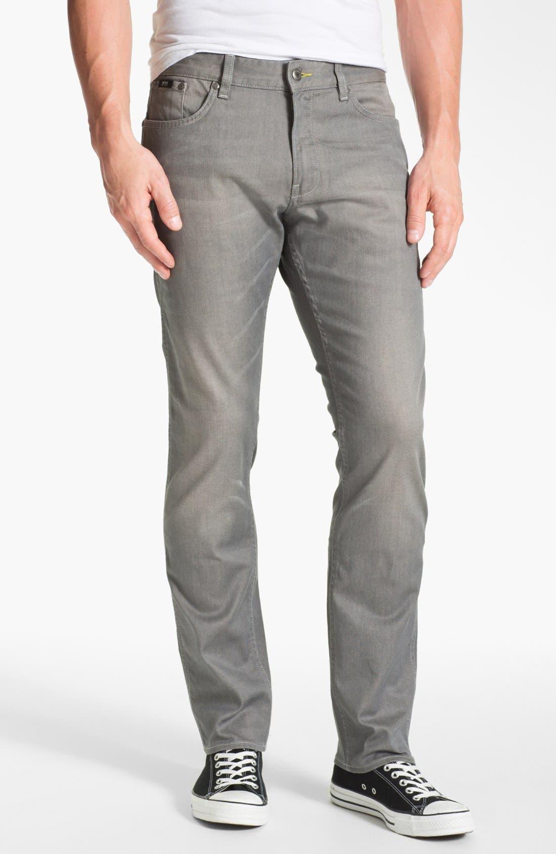 Main Image - BOSS HUGO BOSS 'Delaware' Slim Fit Jeans (Grey Denim)