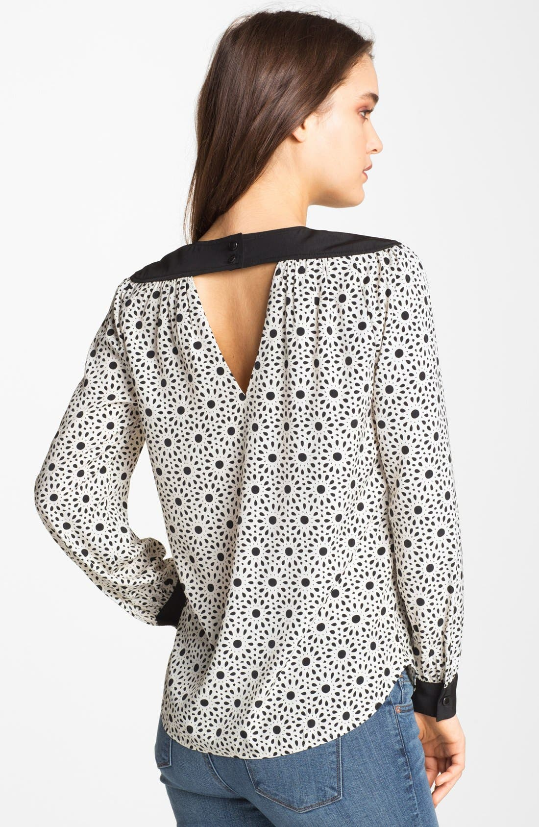 Alternate Image 2  - Bellatrix Floral Print Cutout Blouse