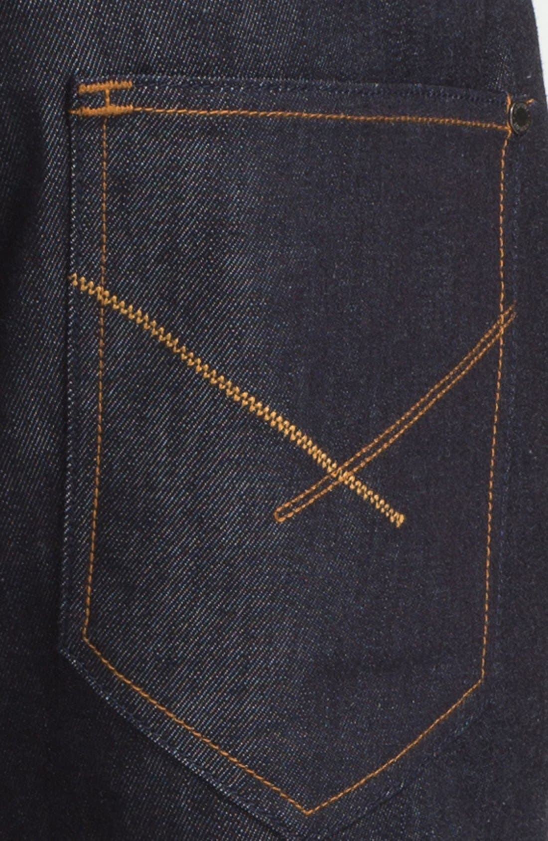 Alternate Image 4  - Insight 'Loose Joints' Slim Leg Jeans (Indigo Raw)
