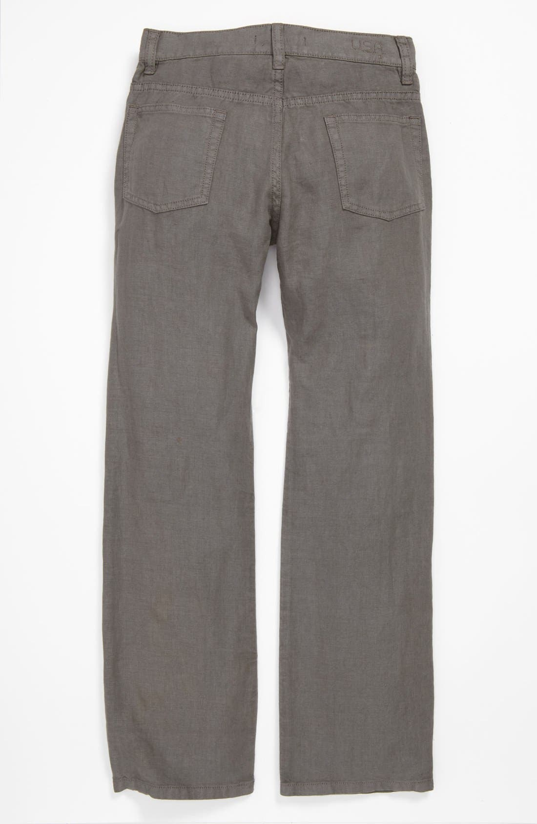 Alternate Image 2  - John Varvatos Star USA Linen Pants (Big Boys)