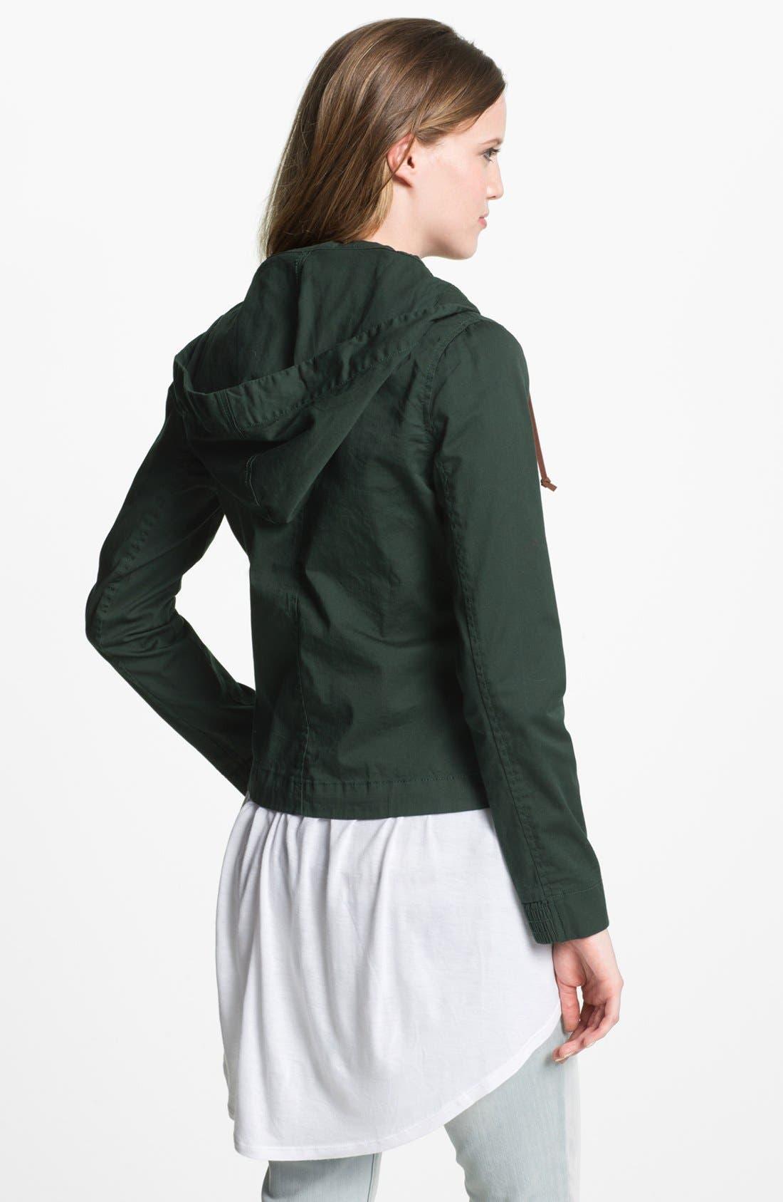 Alternate Image 2  - Angel Kiss Hooded Field Jacket (Juniors) (Online Exclusive)