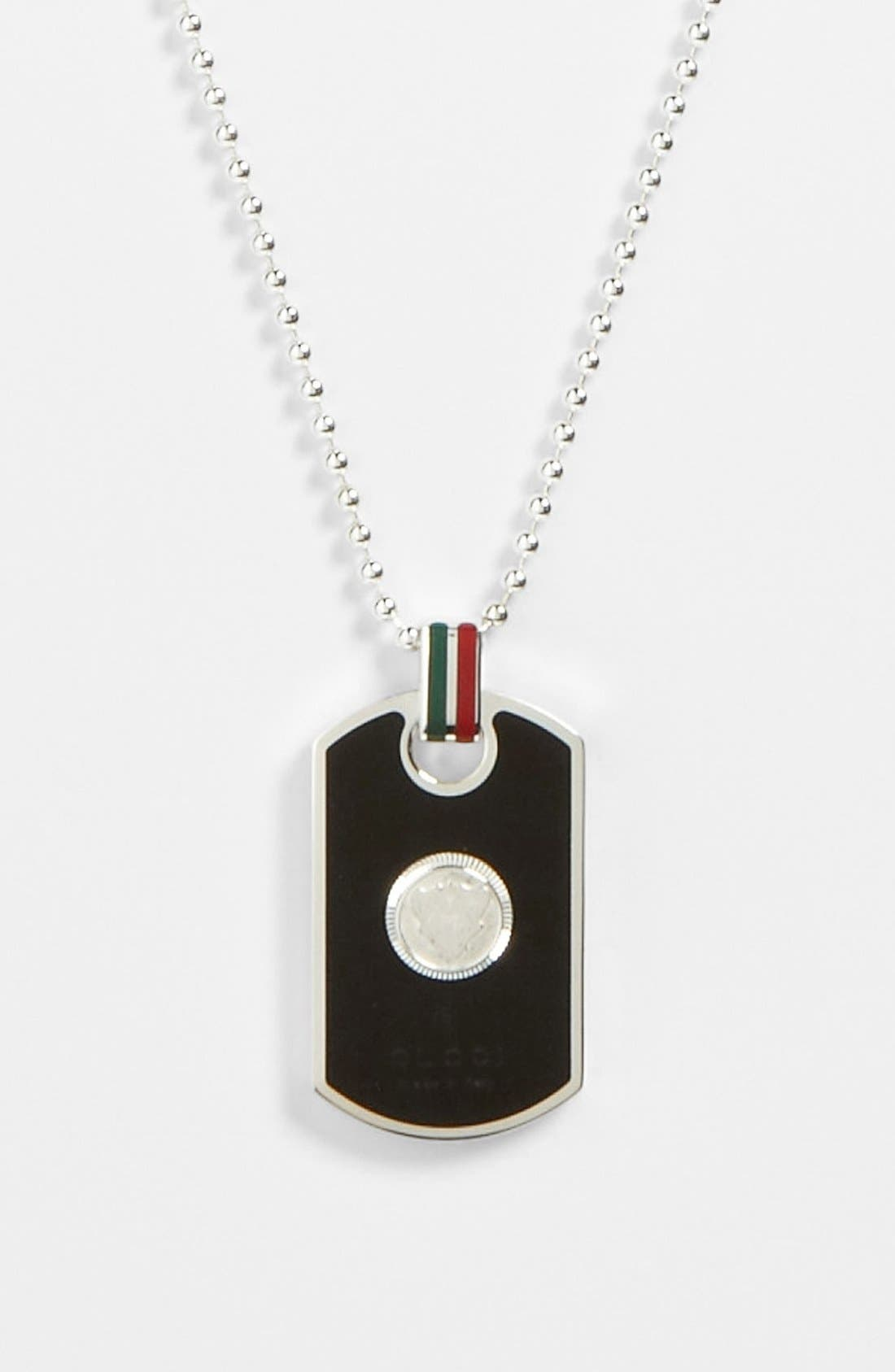 Alternate Image 2  - Gucci Enamel Dog Tag Necklace