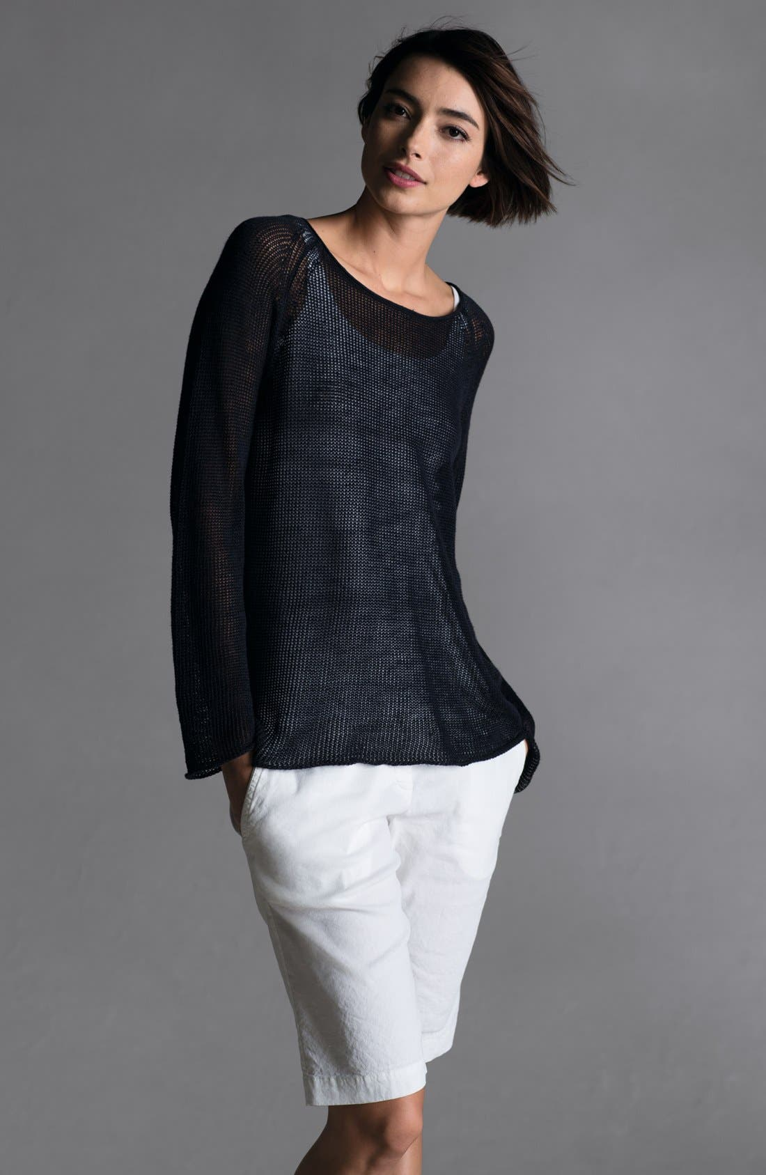 Alternate Image 5  - Eileen Fisher Scoop Neck Raglan Sleeve Top