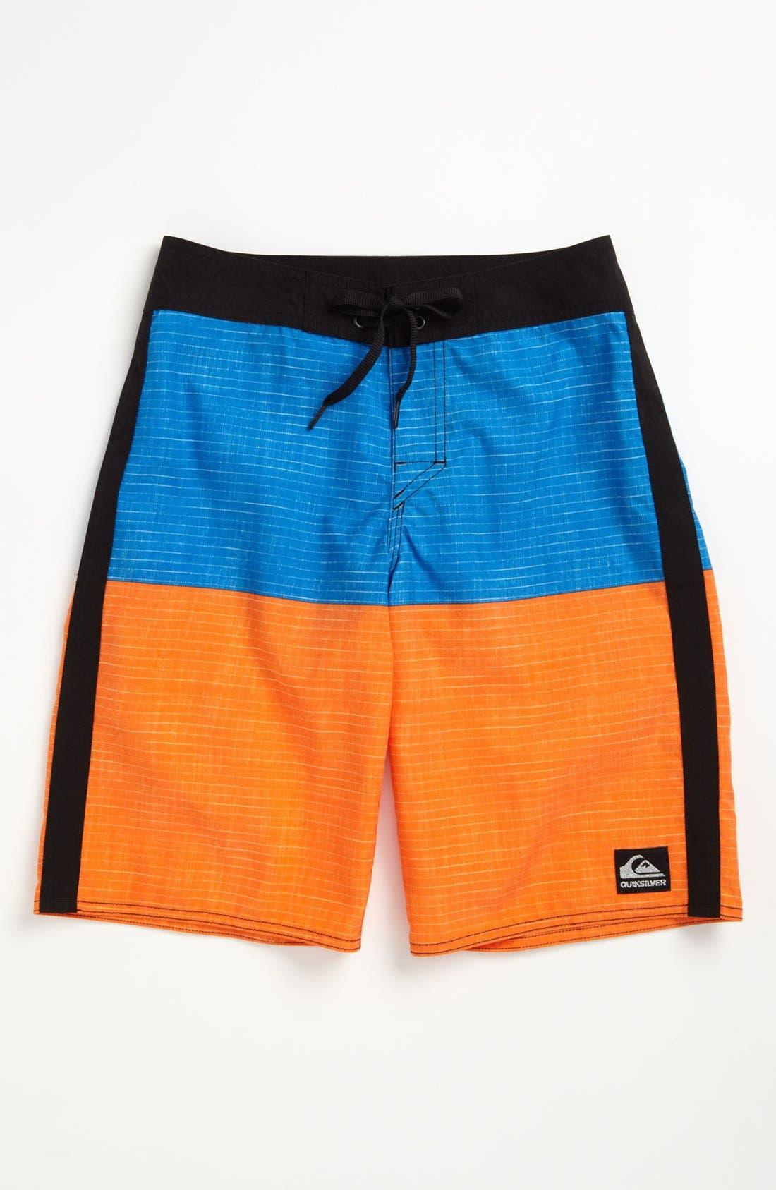 Alternate Image 1 Selected - Quiksilver Colorblock Board Shorts (Big Boys)