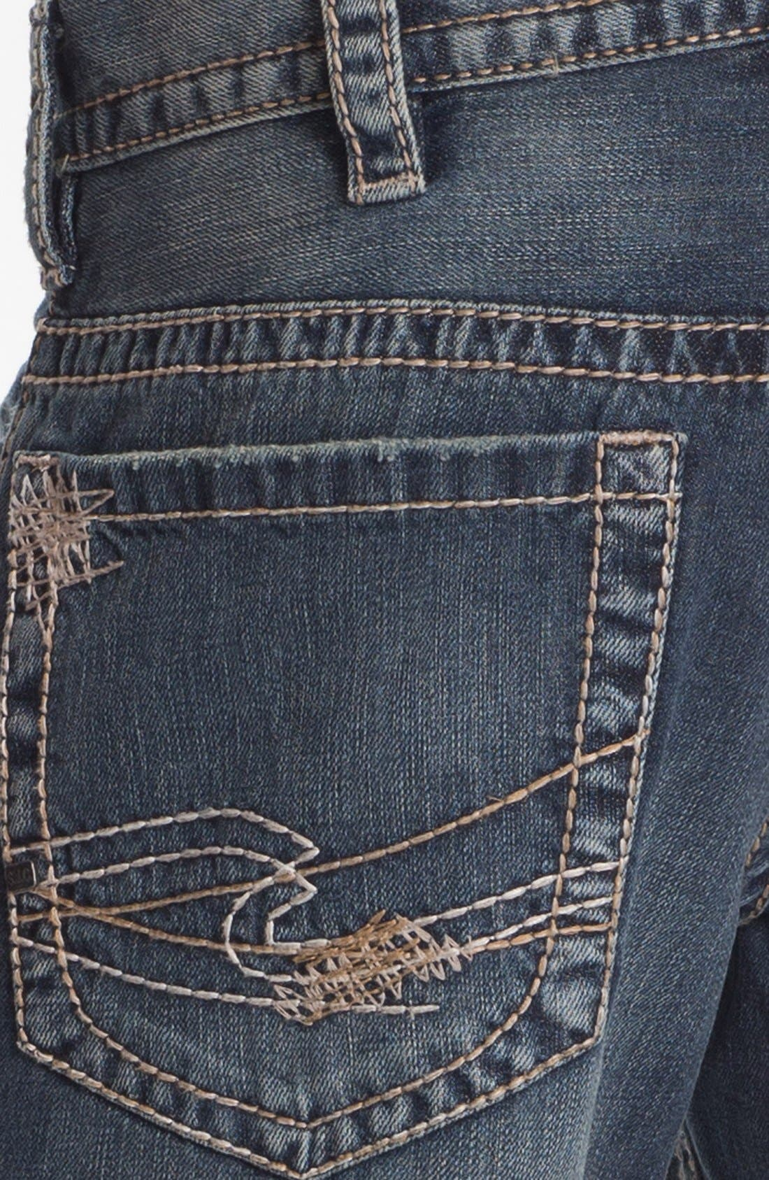 Alternate Image 4  - Silver Jeans Co. 'Gordie' Bootcut Jeans (Indigo)