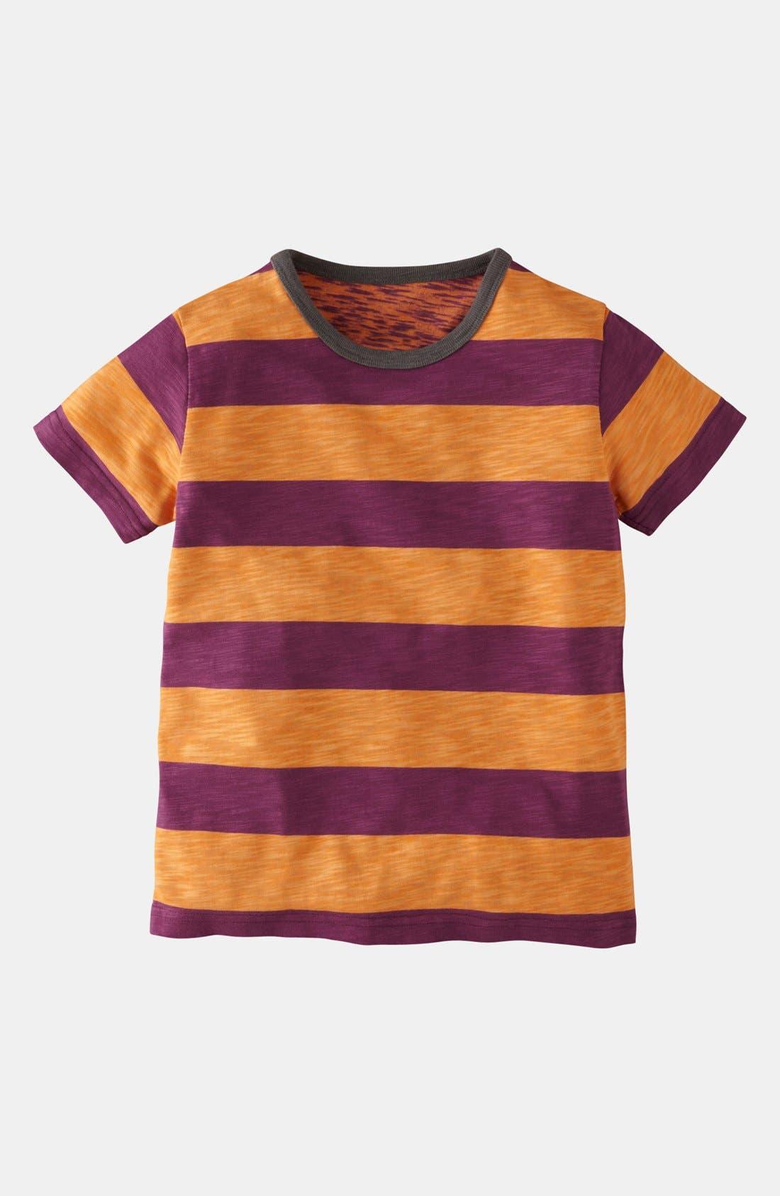 Alternate Image 1 Selected - Mini Boden 'Stripy' T-Shirt (Little Boys & Big Boys)