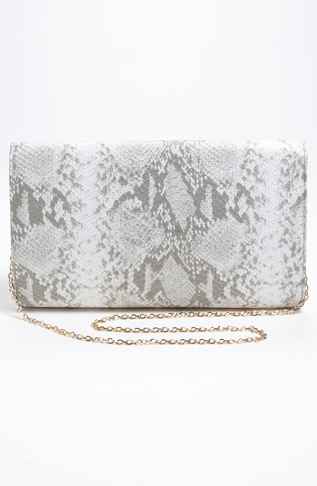 Alternate Image 4  - Urban Expressions Handbags Snake Embossed Clutch