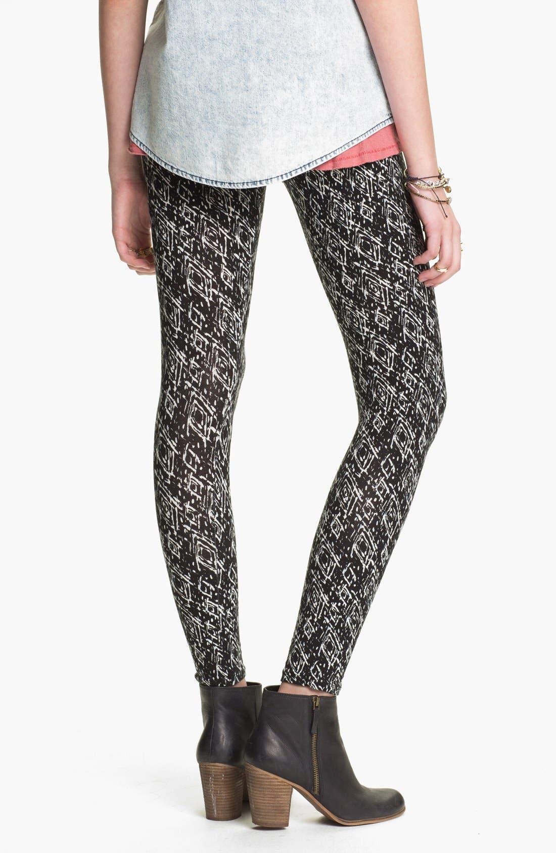 Alternate Image 2  - Mimi Chica Print Leggings (Juniors)