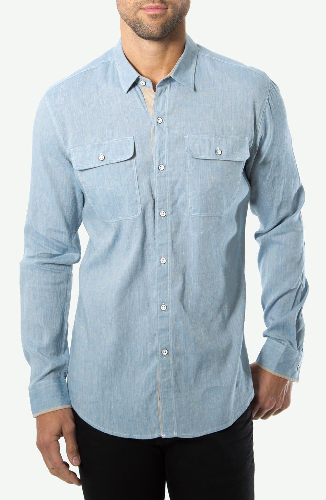 Alternate Image 1 Selected - 7 Diamonds 'Cowboys' Cotton Sport Shirt