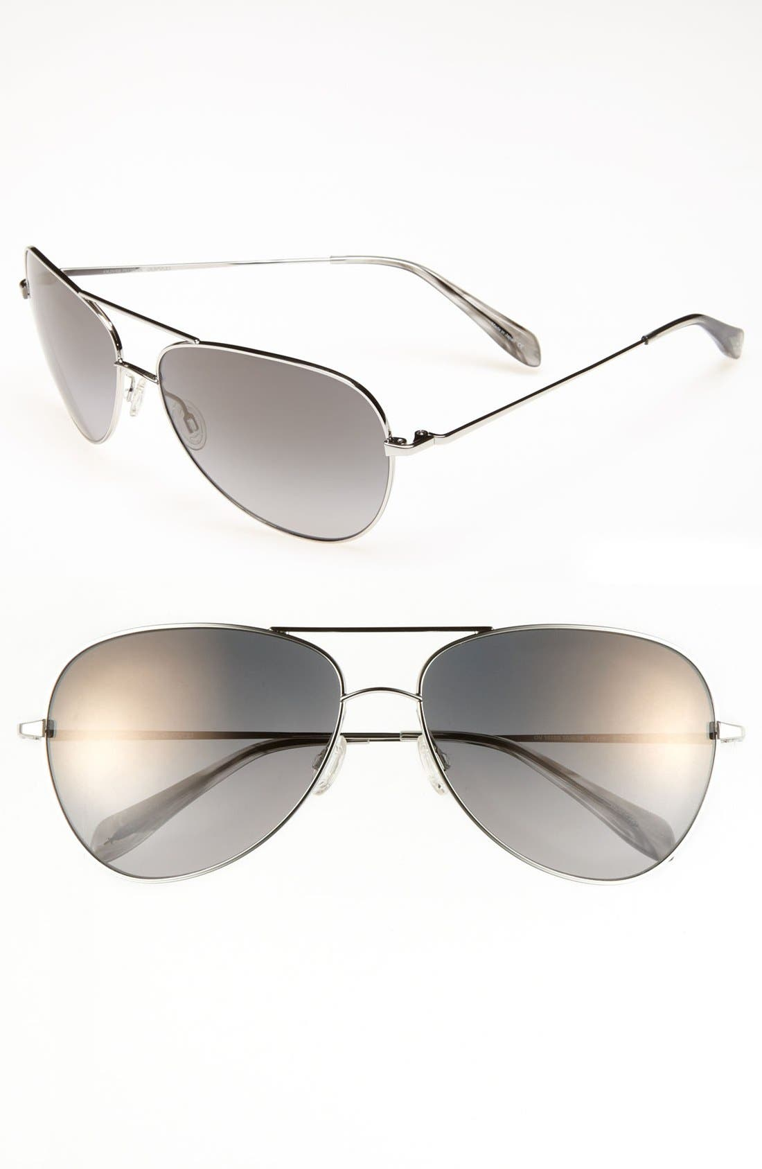 Alternate Image 1 Selected - Oliver Peoples Polarized Aviator Sunglasses