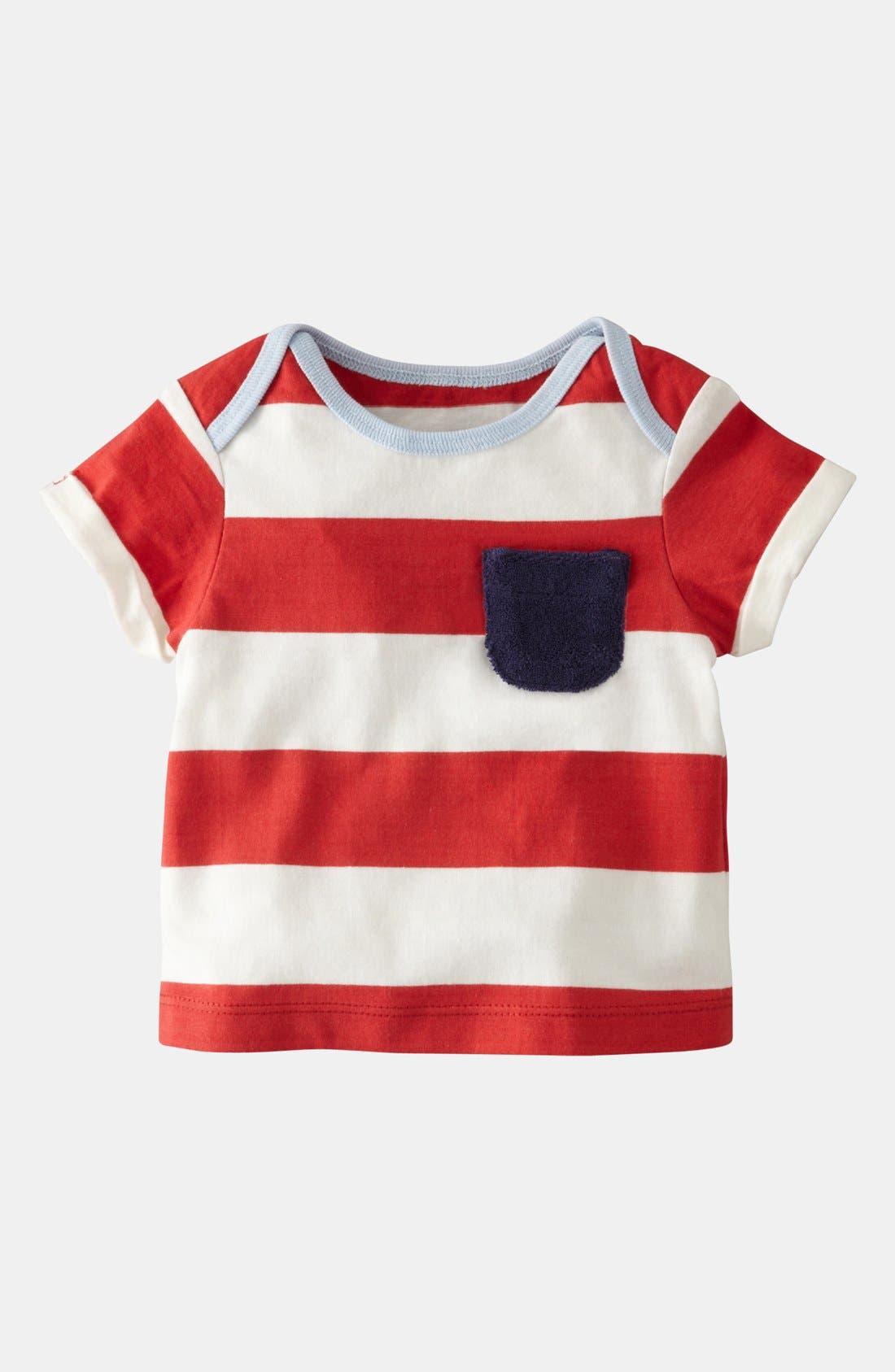 Alternate Image 1 Selected - Mini Boden 'Stripy Summer' T-Shirt (Infant)