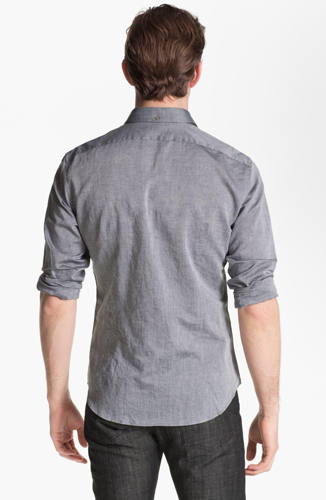 Slim Fit Shirt,                             Alternate thumbnail 2, color,                             Metal Black