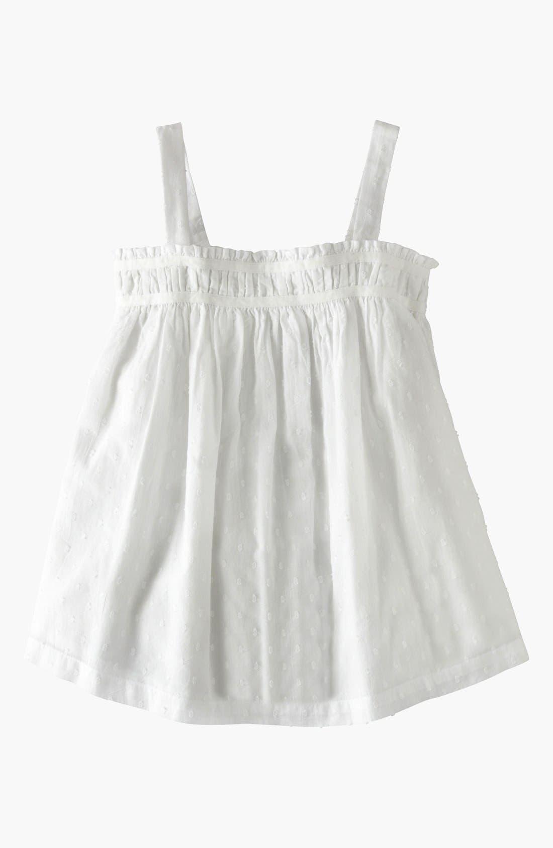 Alternate Image 1 Selected - Mini Boden 'Summer Days' Smocked Top (Toddler, Little Girls & Big Girls)