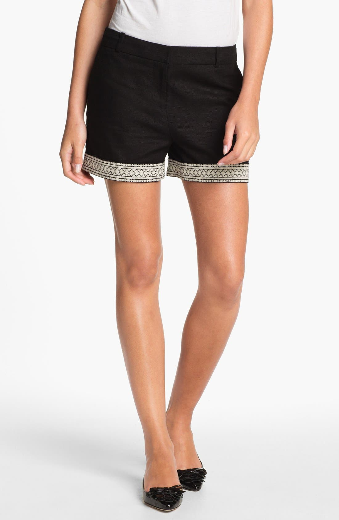Main Image - kate spade new york 'roslyn' embroidered shorts