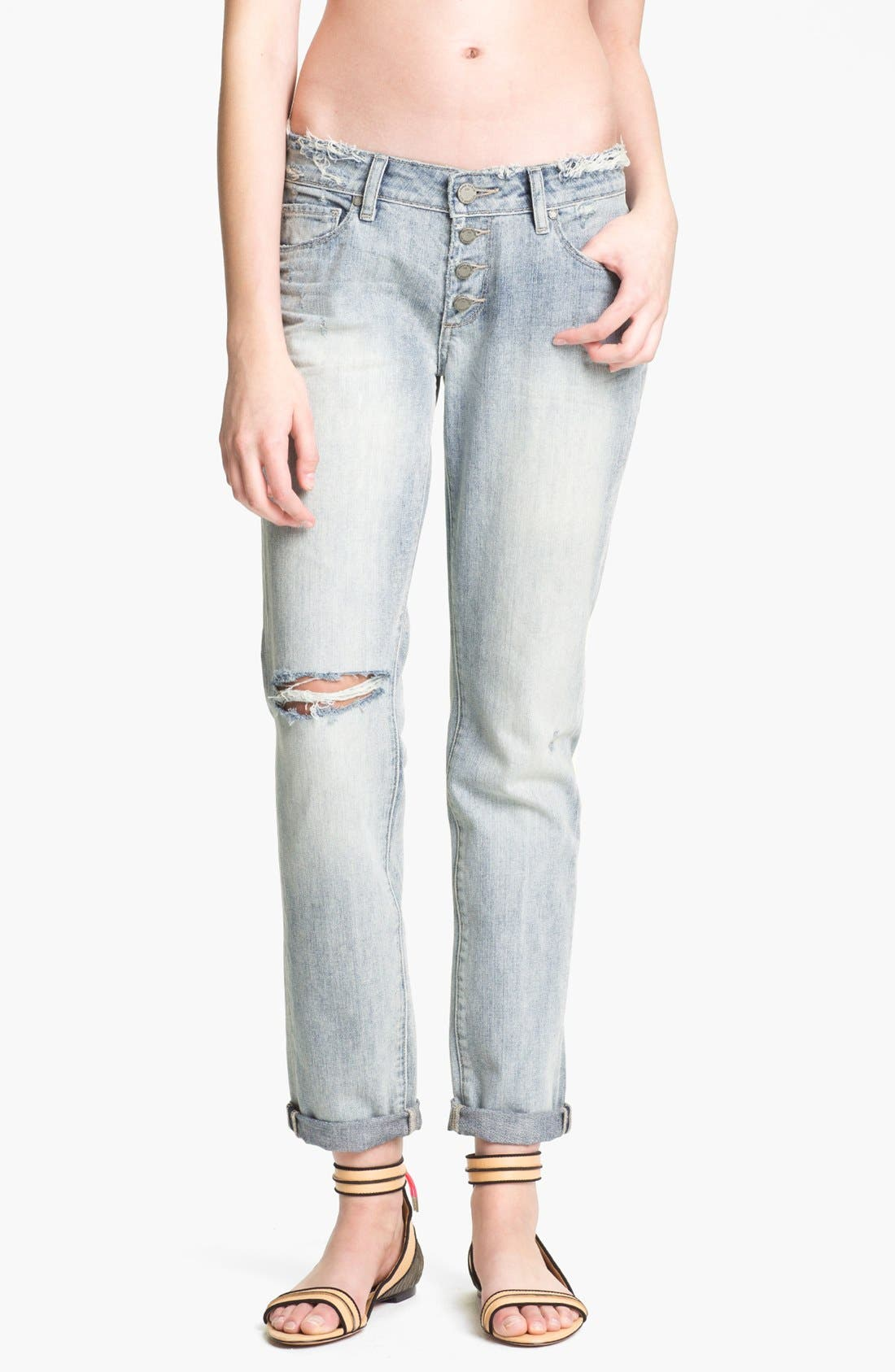 Alternate Image 1 Selected - Paige Denim 'Jimmy Jimmy' Destroyed Relaxed Fit Jeans (Pilot)