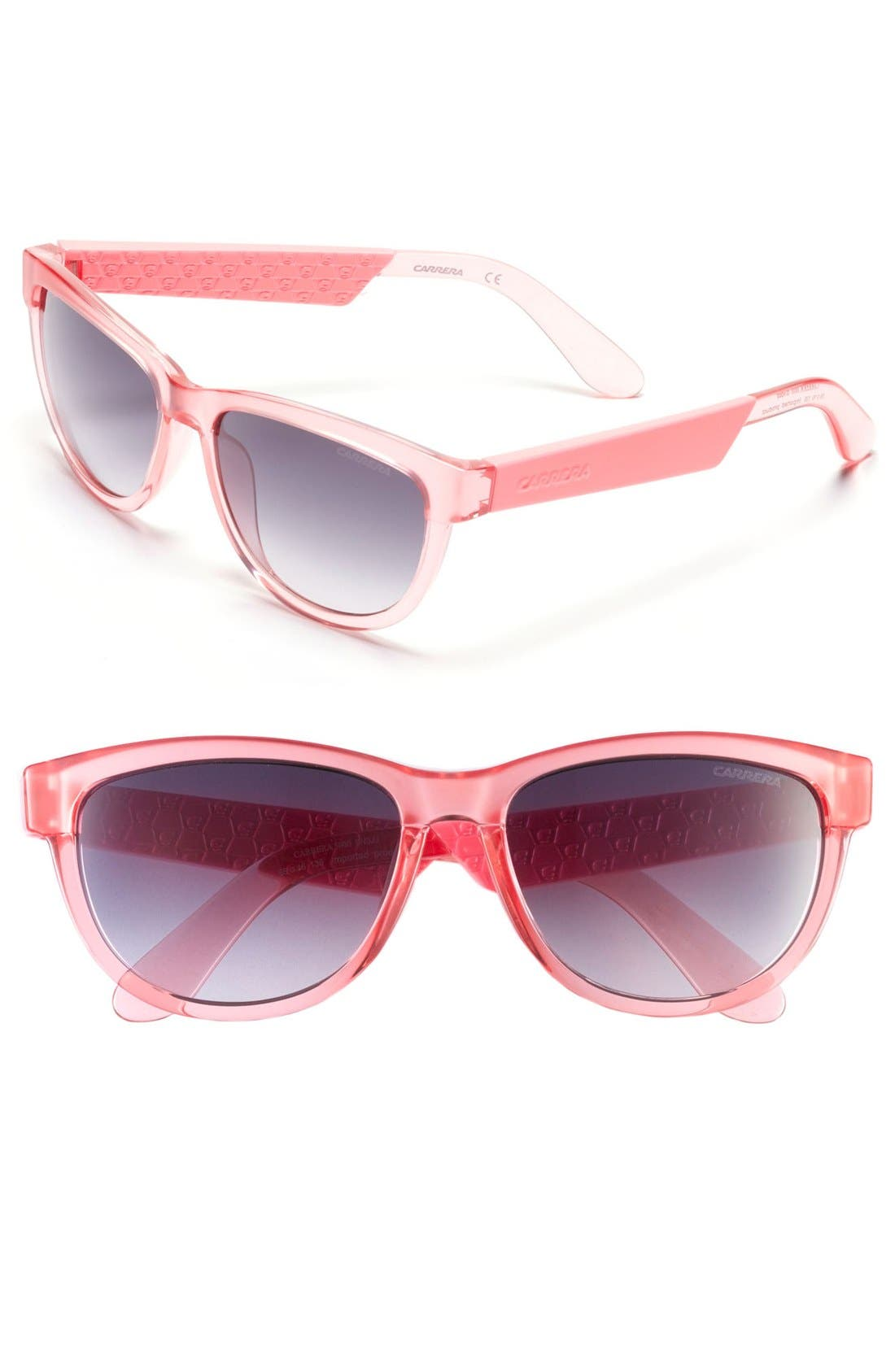 55mm Sunglasses,                             Main thumbnail 1, color,                             Pink