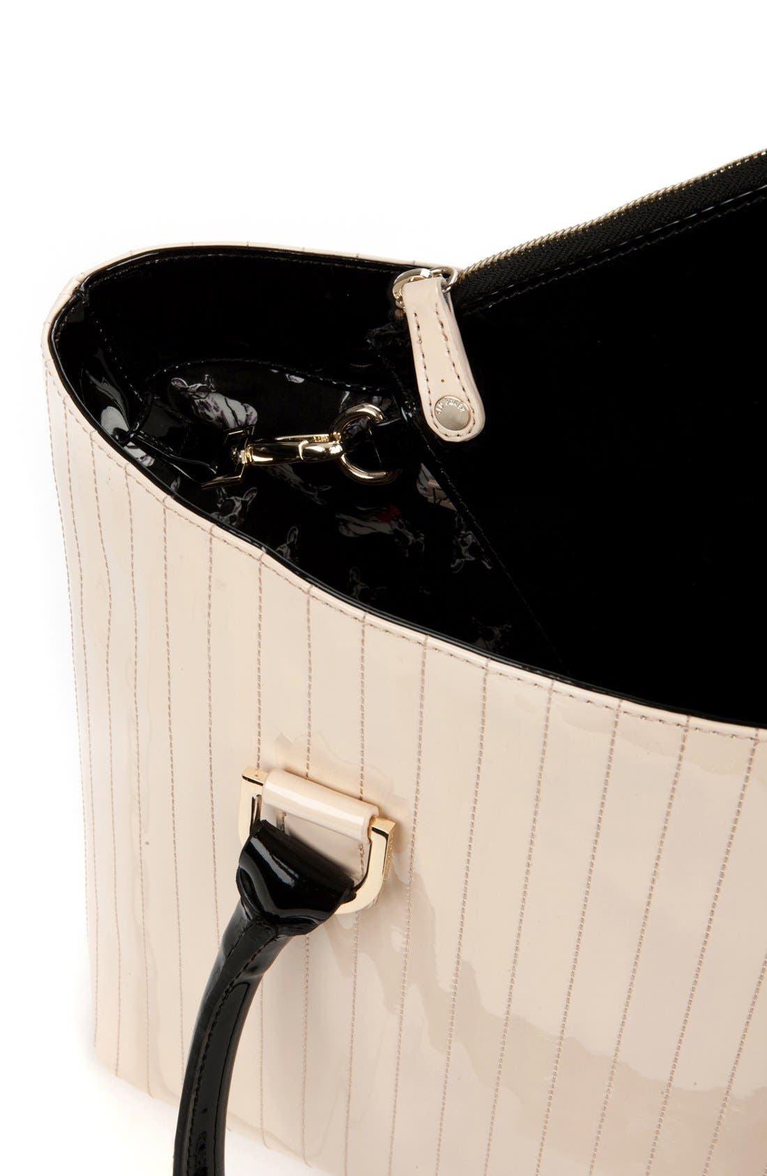 Alternate Image 5  - Ted Baker London 'Enamel - Colorblock' Quilted Faux Leather Shopper