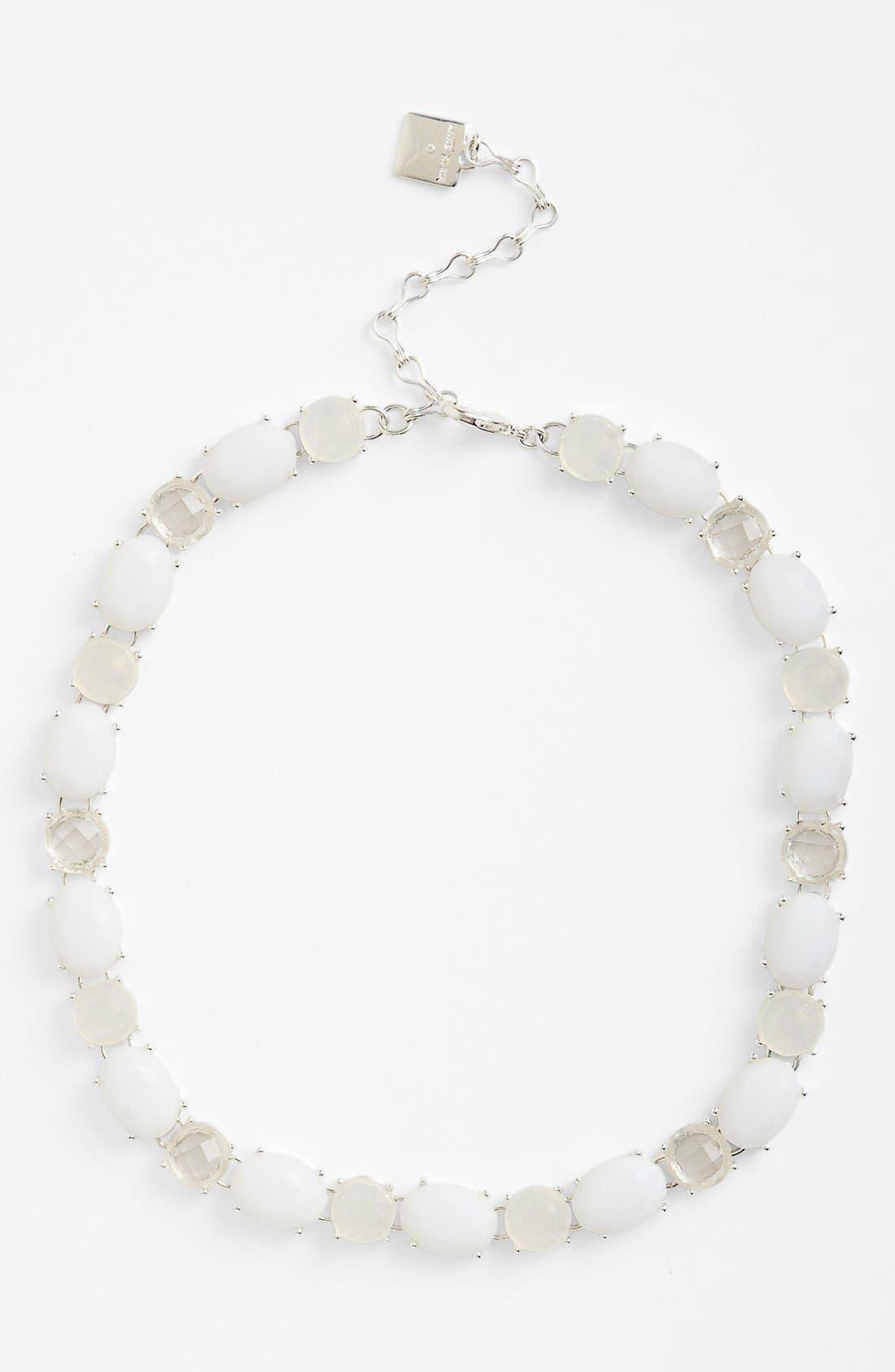 All Around Stone Necklace,                         Main,                         color, White Multi/ Silver