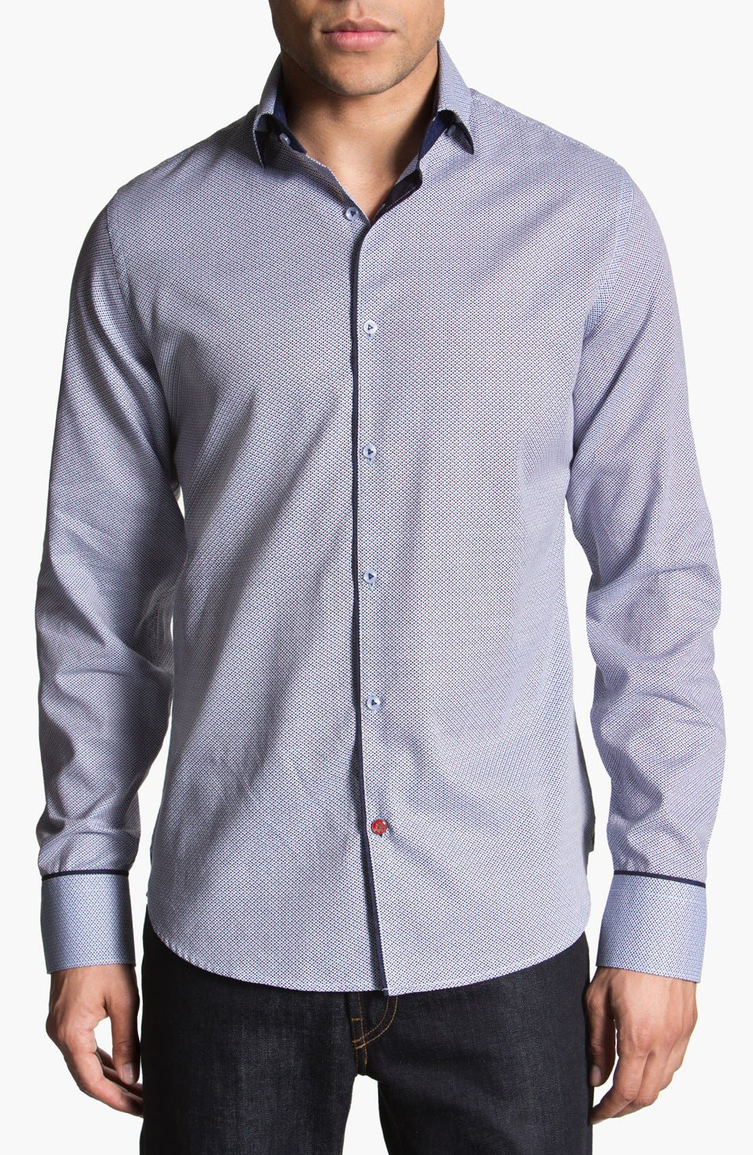 Alternate Image 1 Selected - Stone Rose Geometric Woven Shirt
