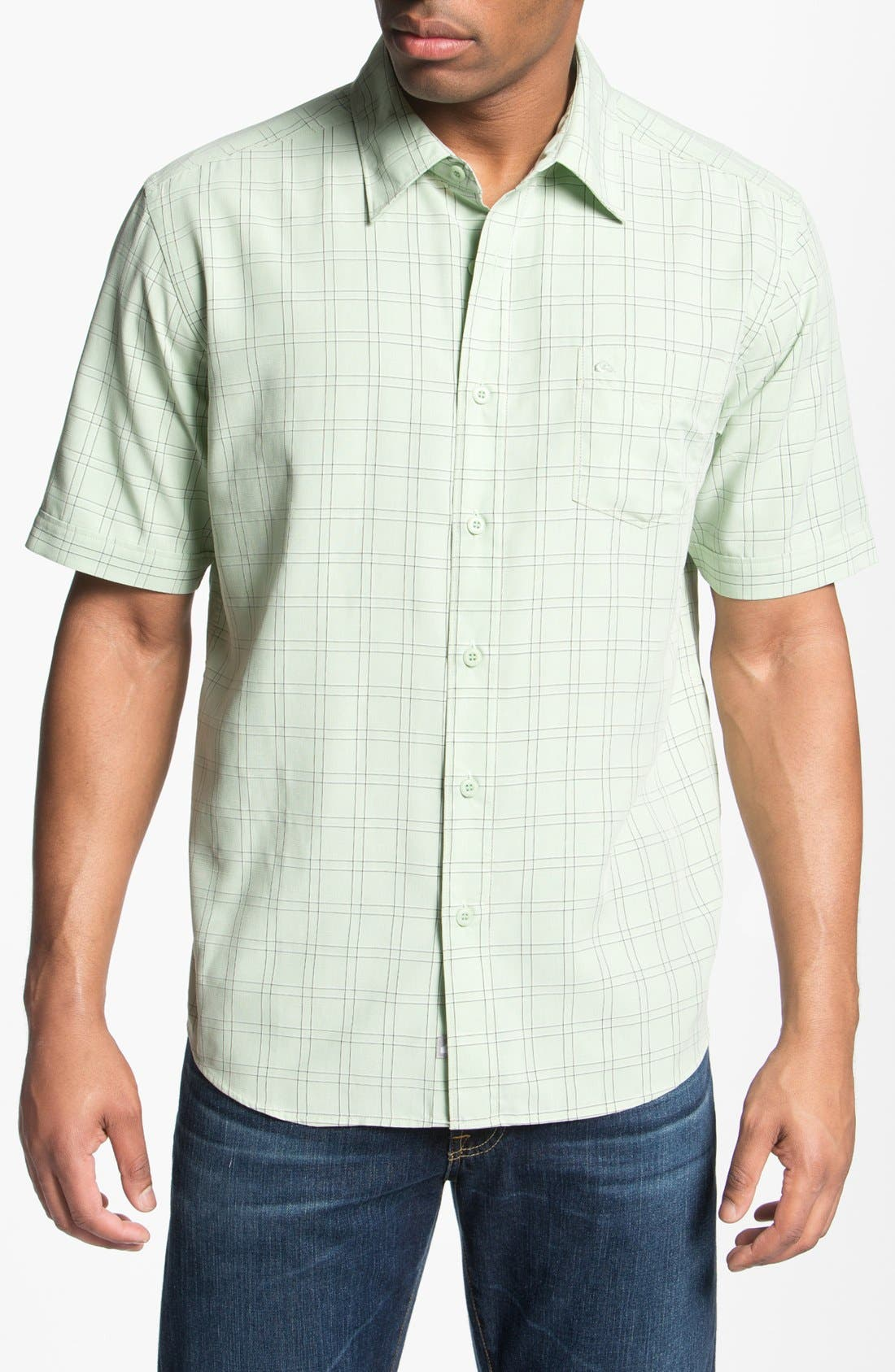 Main Image - Quiksilver Waterman Collection 'Kendalls Right' Short Sleeve Sport Shirt
