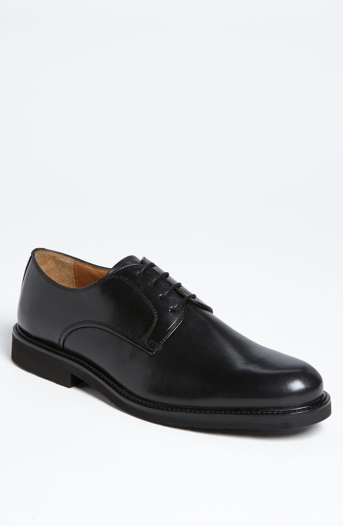 'Gallo' Plain Toe Derby,                             Main thumbnail 1, color,                             Black