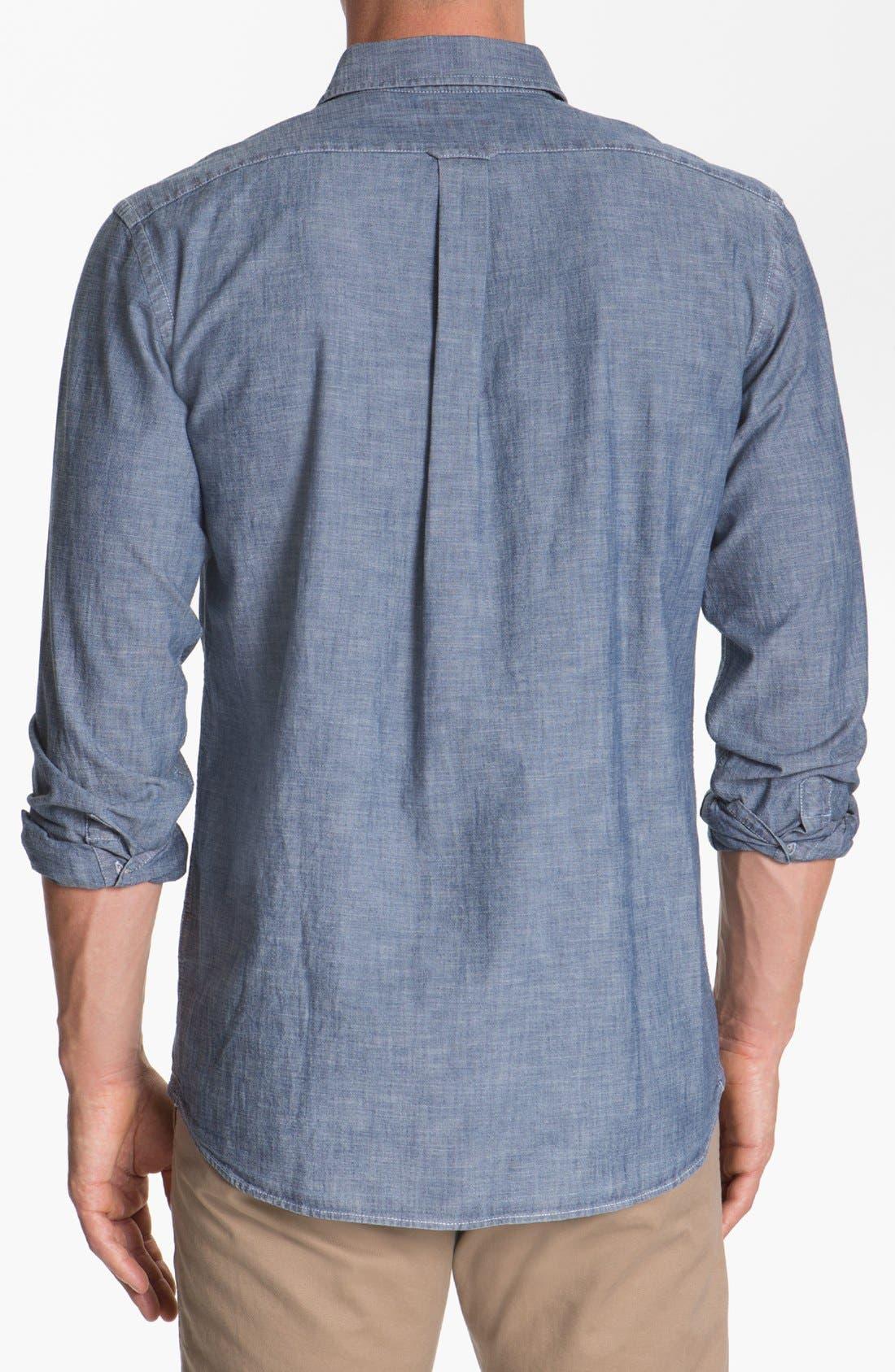 Alternate Image 2  - Façonnable Tailored Denim Regular Fit Chambray Sport Shirt