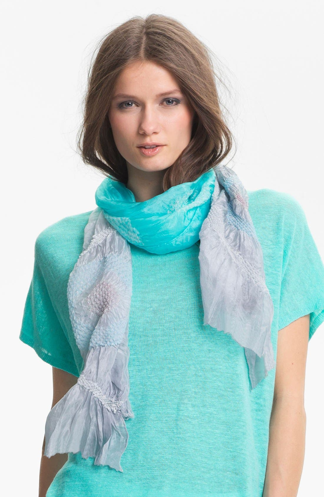 Alternate Image 1 Selected - Eileen Fisher 'Daydream' Silk Shibori Scarf