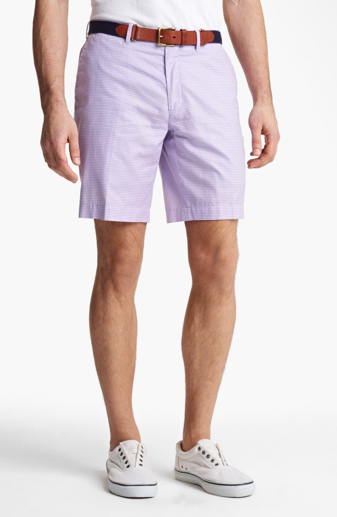 Main Image - Polo Ralph Lauren Slim Gingham Shorts