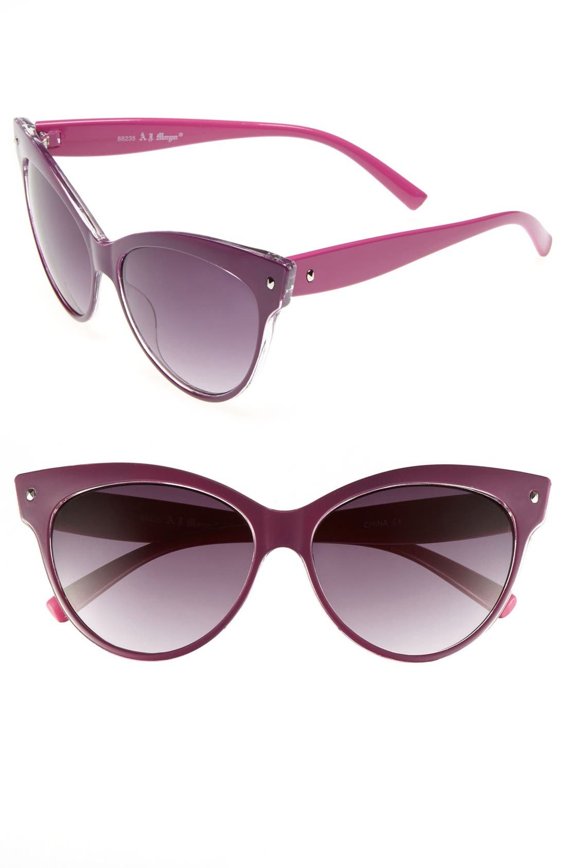 Main Image - A.J. Morgan 58mm 'Contessa' Sunglasses