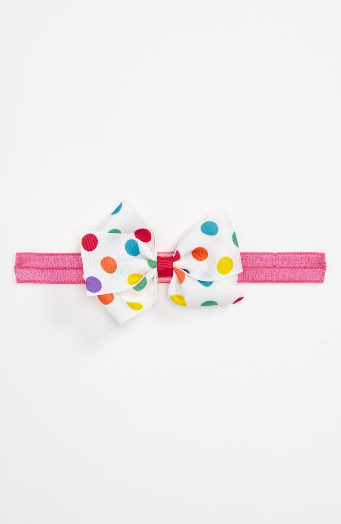Alternate Image 1 Selected - PLH Bows & Laces Grosgrain Bow Headband (Baby Girls & Toddler Girls)