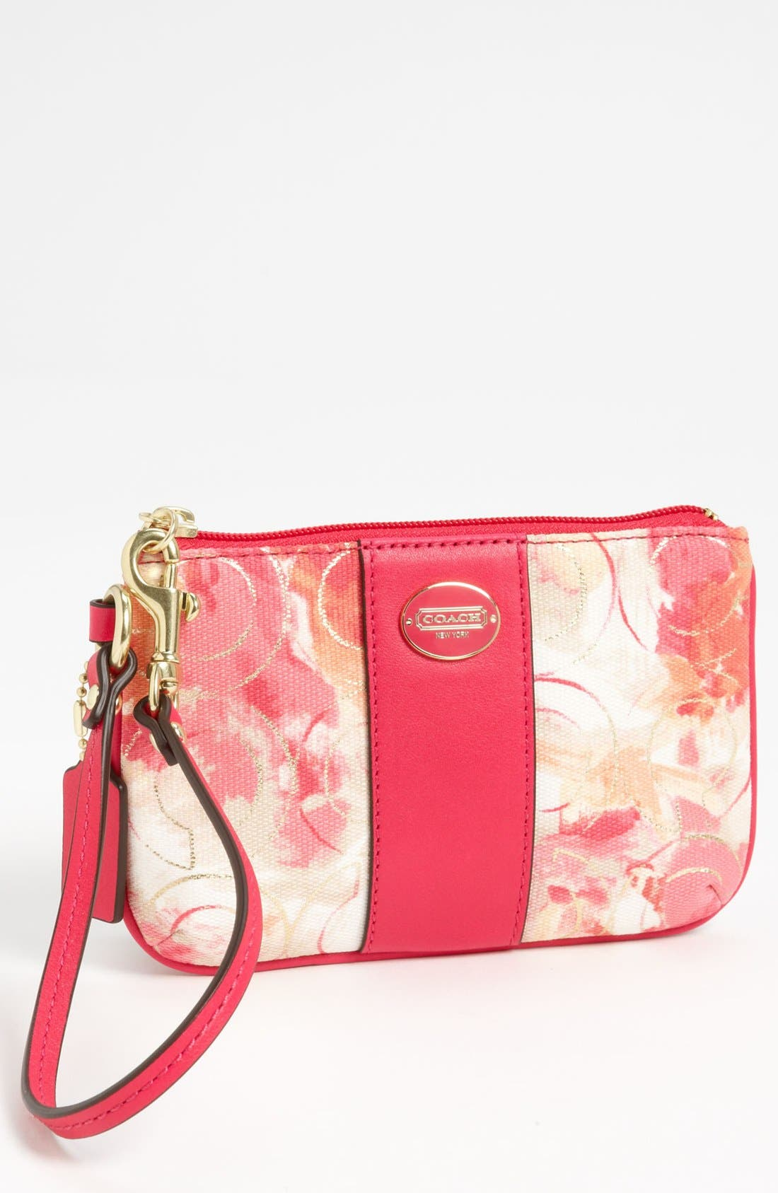 Alternate Image 1 Selected - COACH 'Small' Floral Wristlet