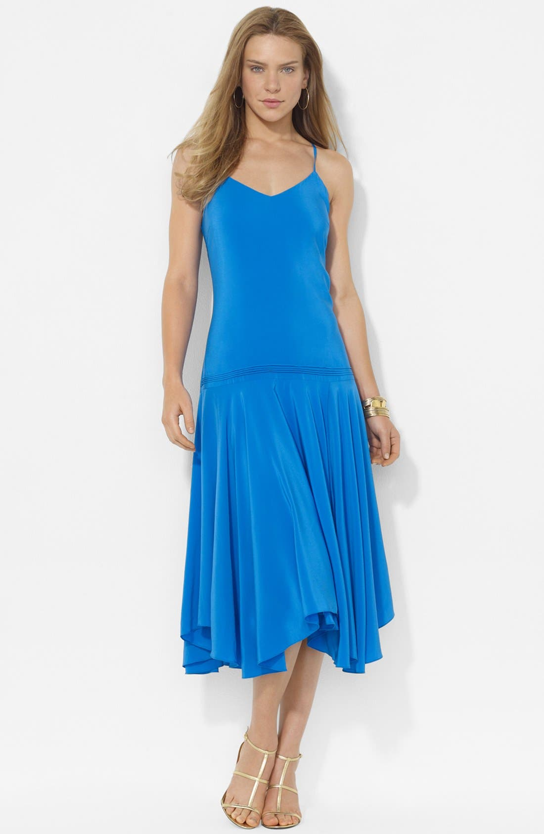 Alternate Image 1 Selected - Lauren Ralph Lauren Sleeveless Silk Dress