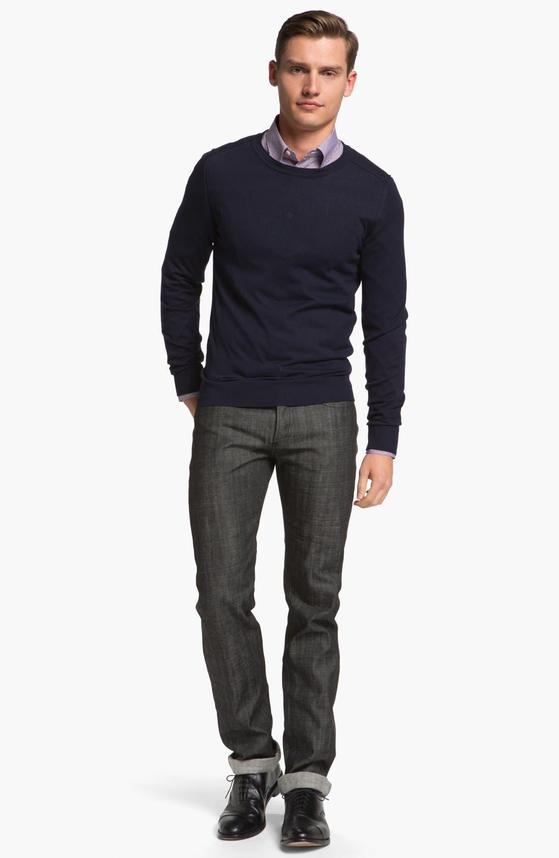 Alternate Image 5  - A.P.C. 'New Standard' Slim Straight Leg Jeans (Black) (Online Only)