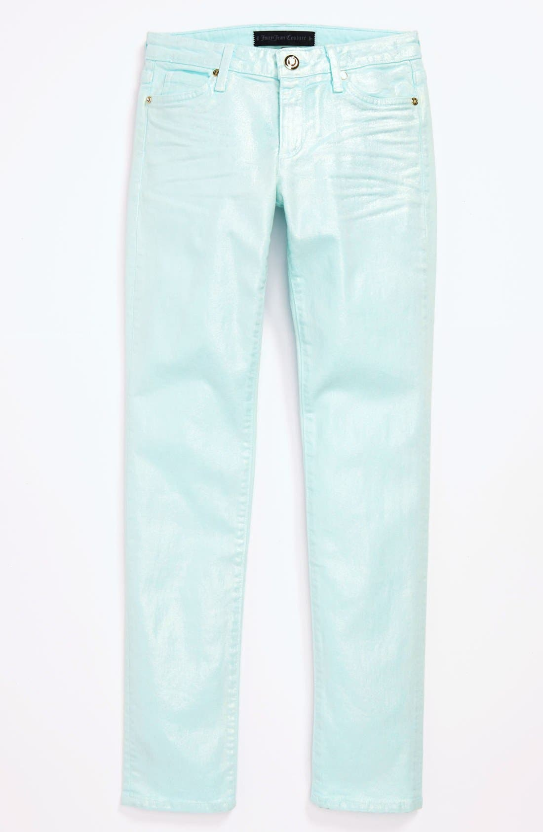 Alternate Image 2  - Juicy Couture 'Moonstone Foil' Skinny Jeans (Little Girls & Big Girls)