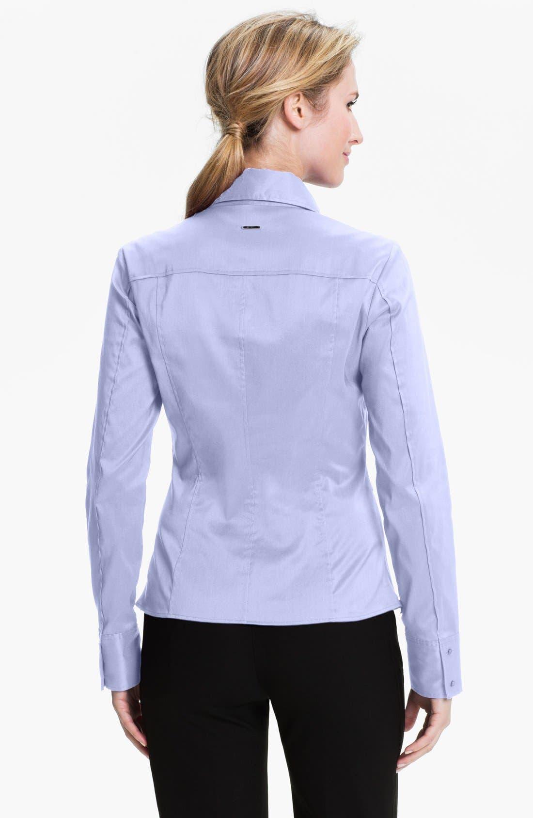 Alternate Image 2  - BOSS 'Bashina 2' Fitted Cotton Blend V-Neck Blouse