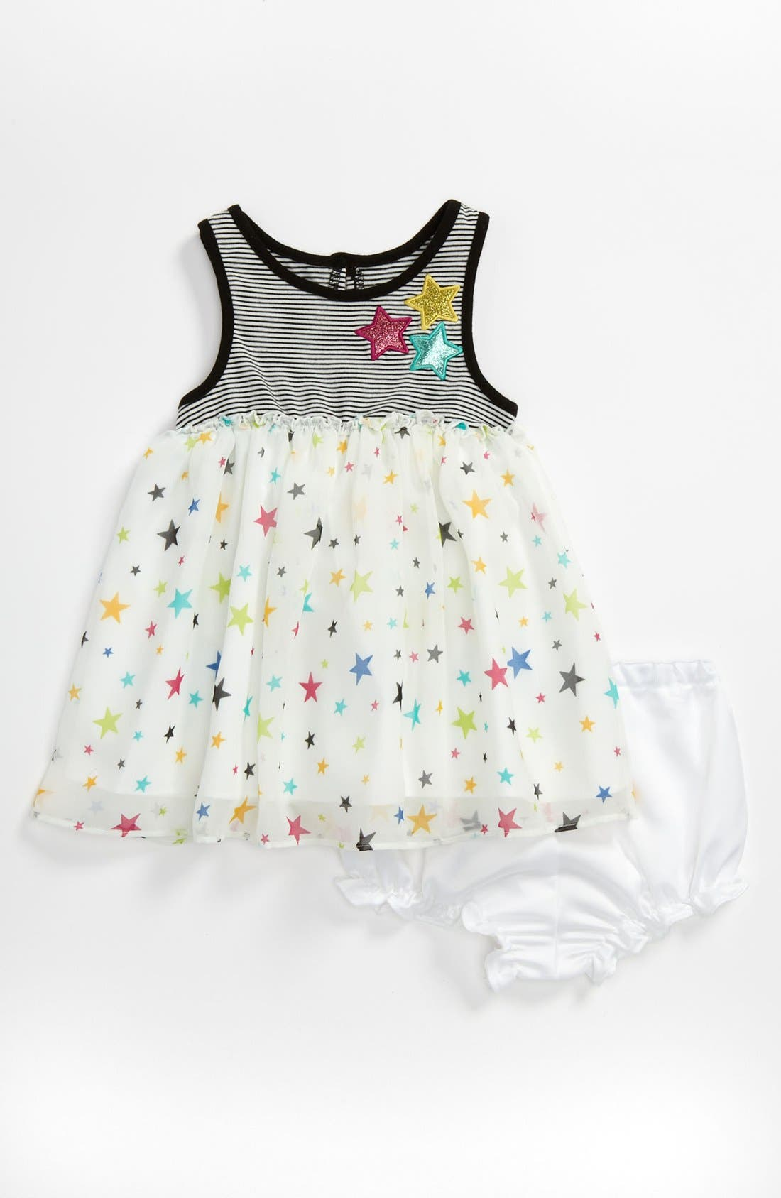 Alternate Image 1 Selected - Pippa & Julie 'Star' Dress & Bloomers (Baby)