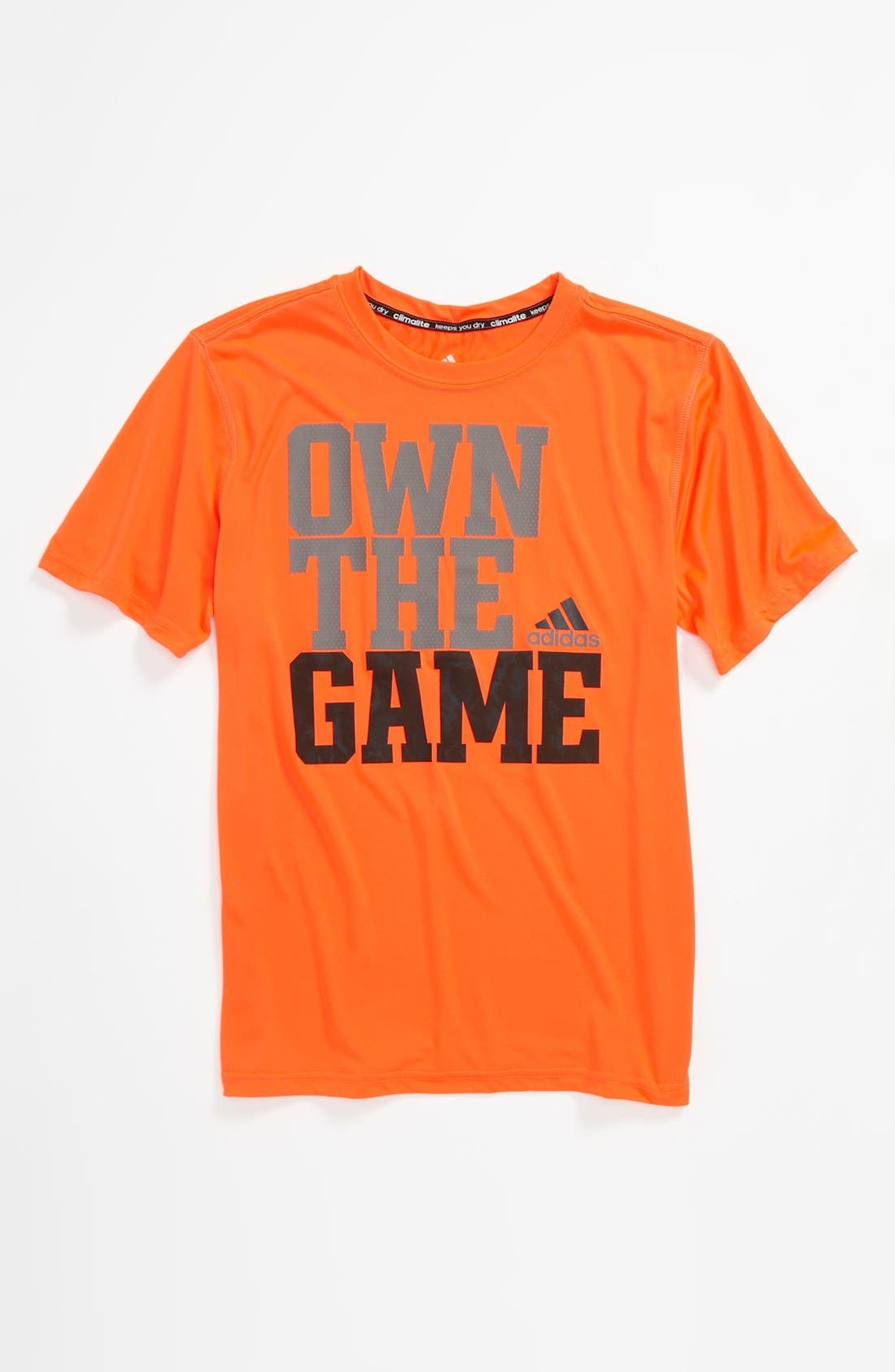 Alternate Image 1 Selected - adidas 'Own The Game' T-Shirt (Big Boys)