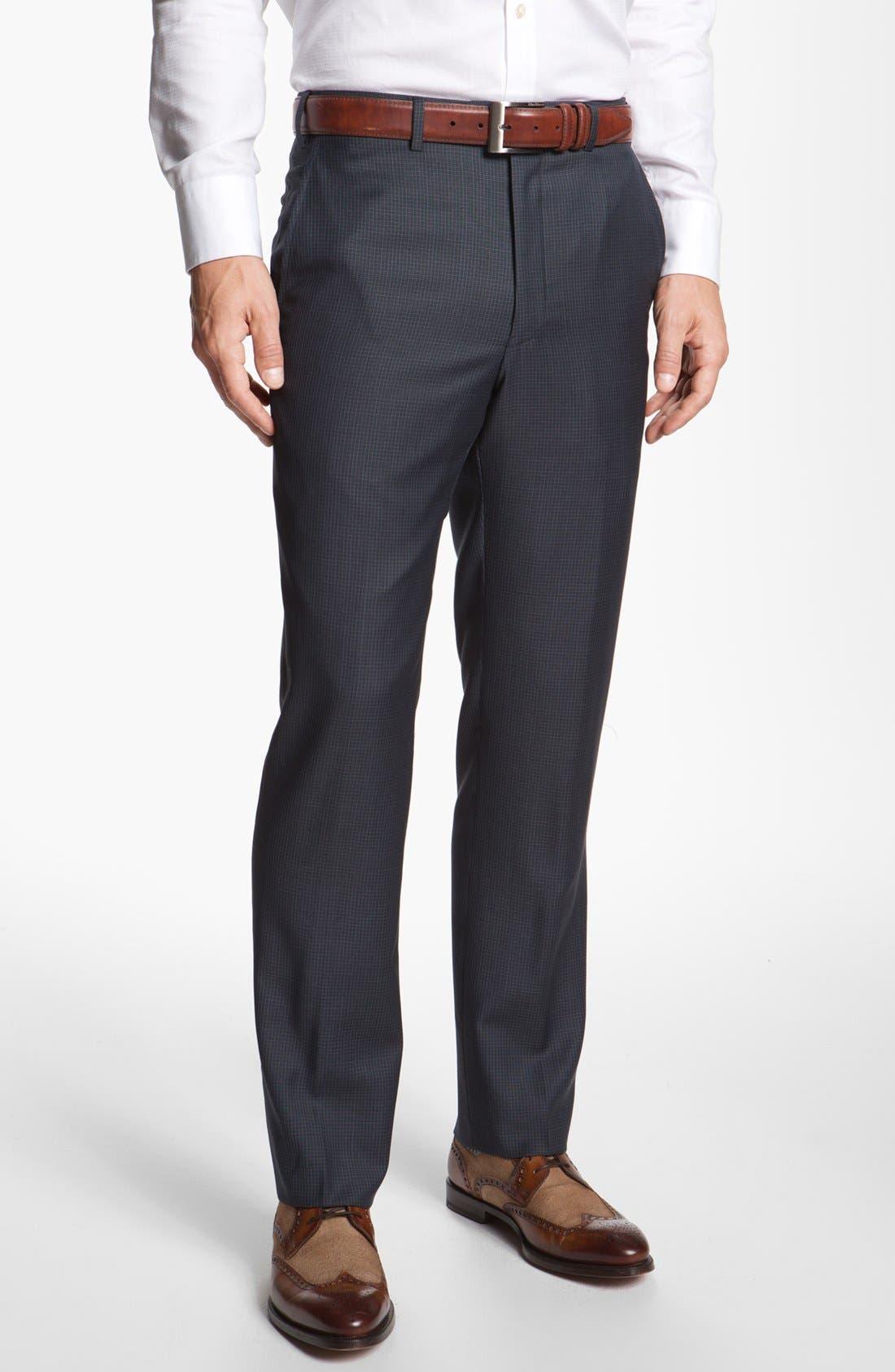 Main Image - Santorelli Flat Front Trousers