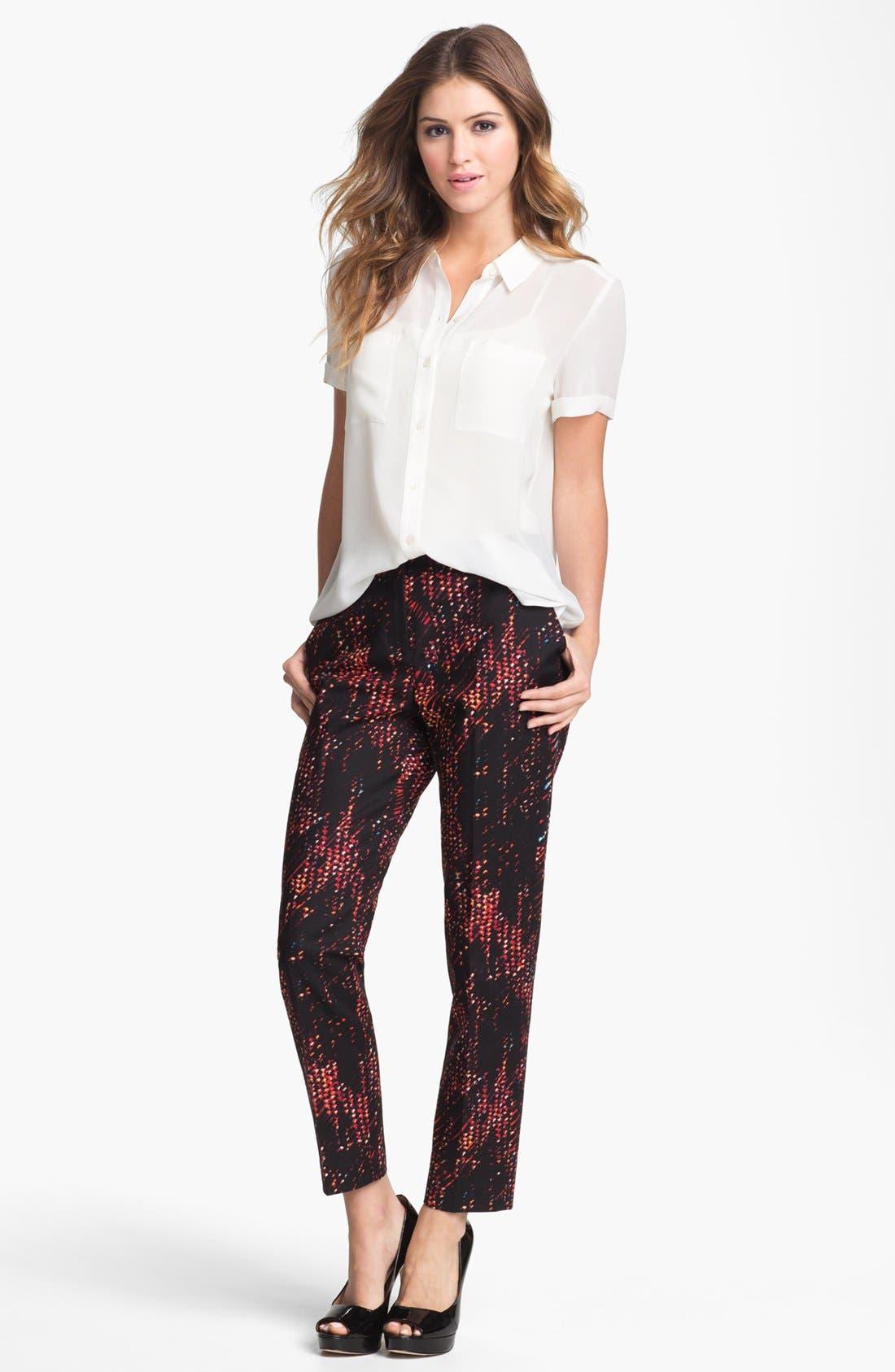 Alternate Image 1 Selected - Halogen 'Taylor' Patterned Skinny Ankle Pants