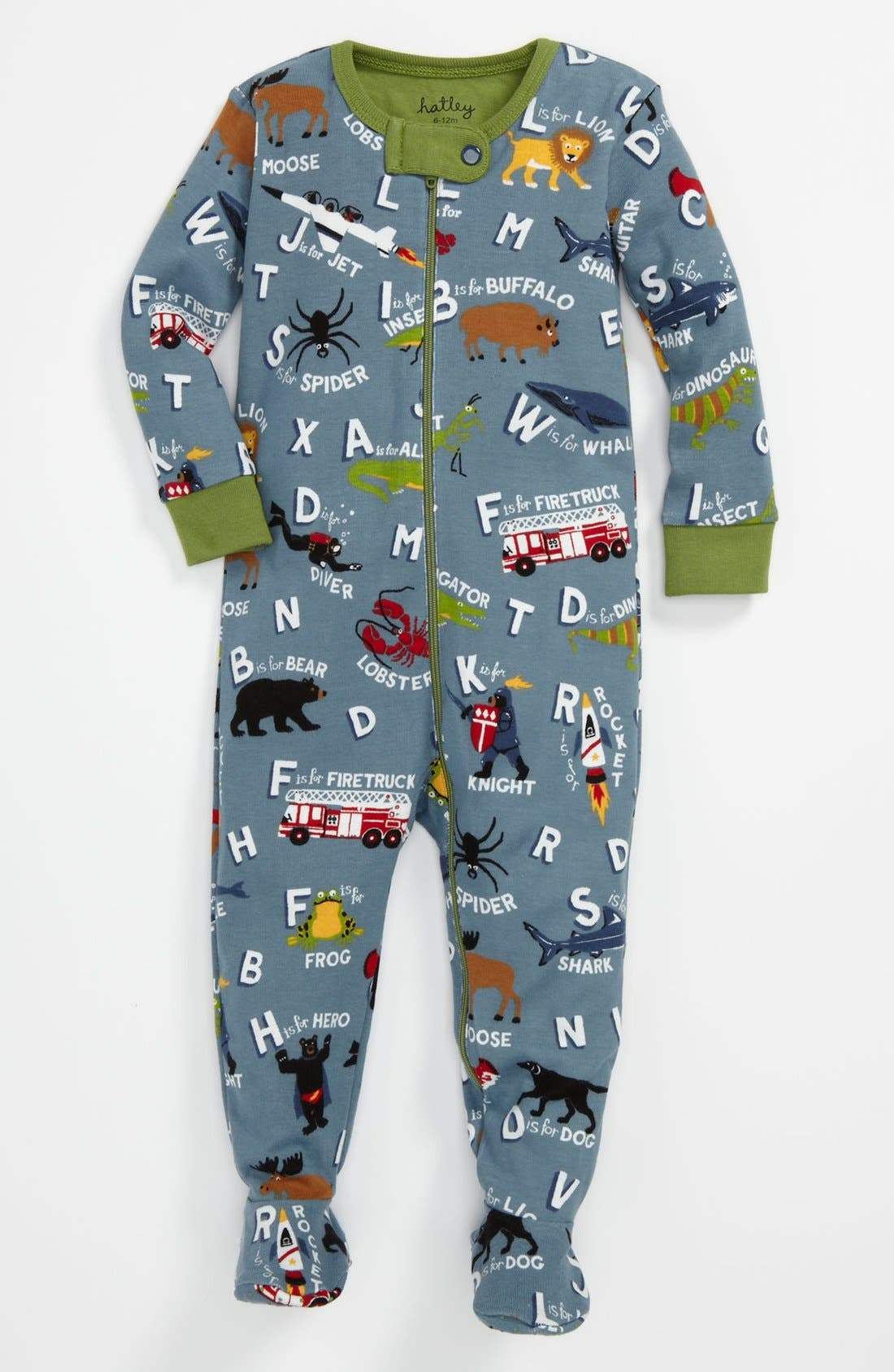 Alternate Image 1 Selected - Hatley Fitted Footie Pajamas (Baby)