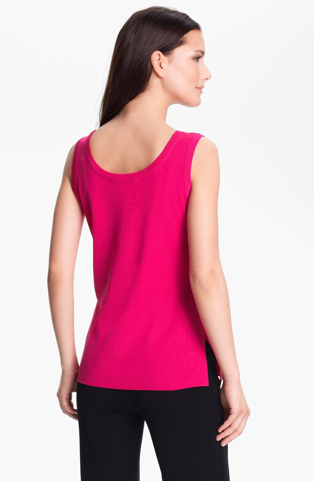 Alternate Image 2  - Misook Scoop Neck Tank (Regular & Petite) (Online Only)