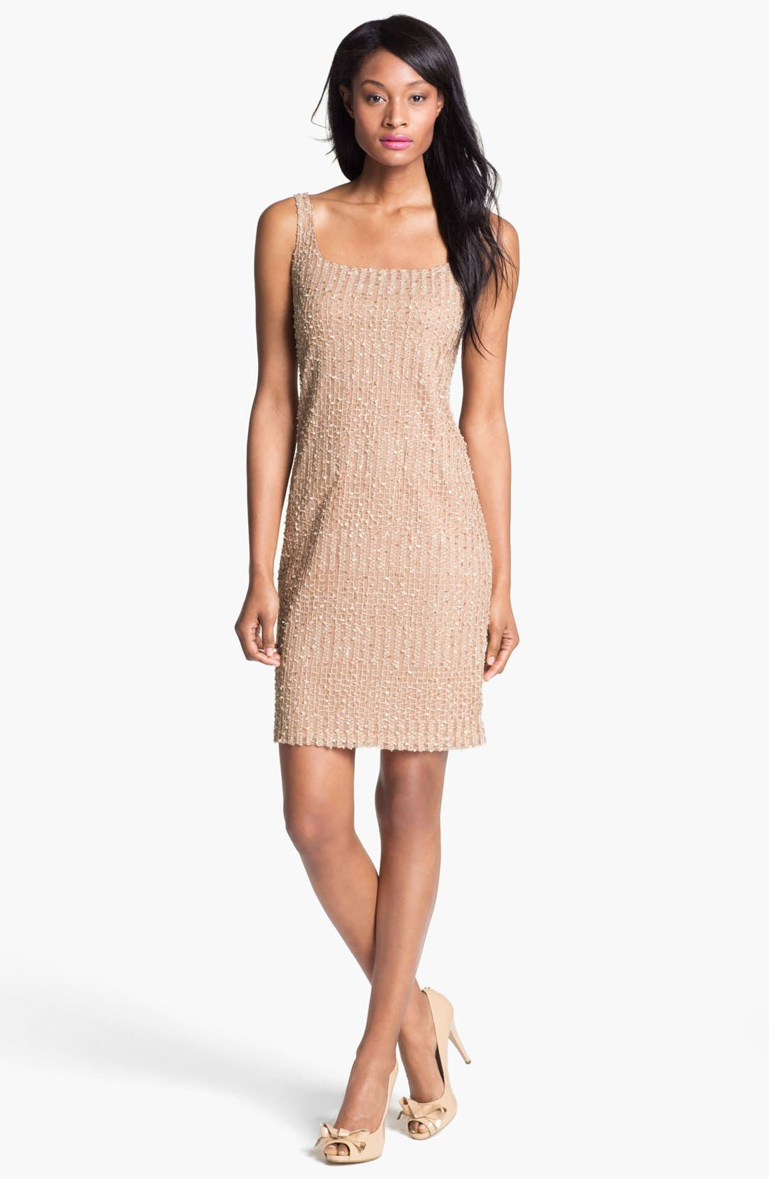 Main Image - Isaac Mizrahi New York Embellished Sleeveless Mesh Dress