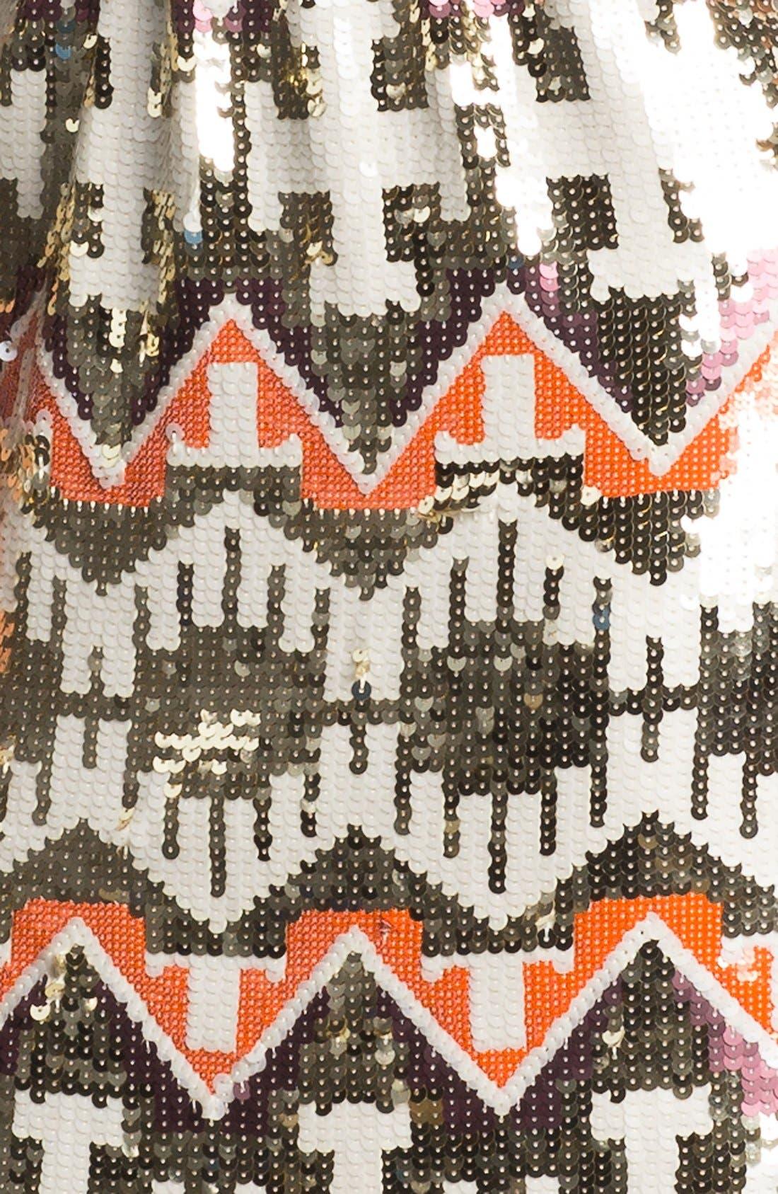 Alternate Image 3  - Jessica Simpson Racerback Blouson Sequin Skirt Dress