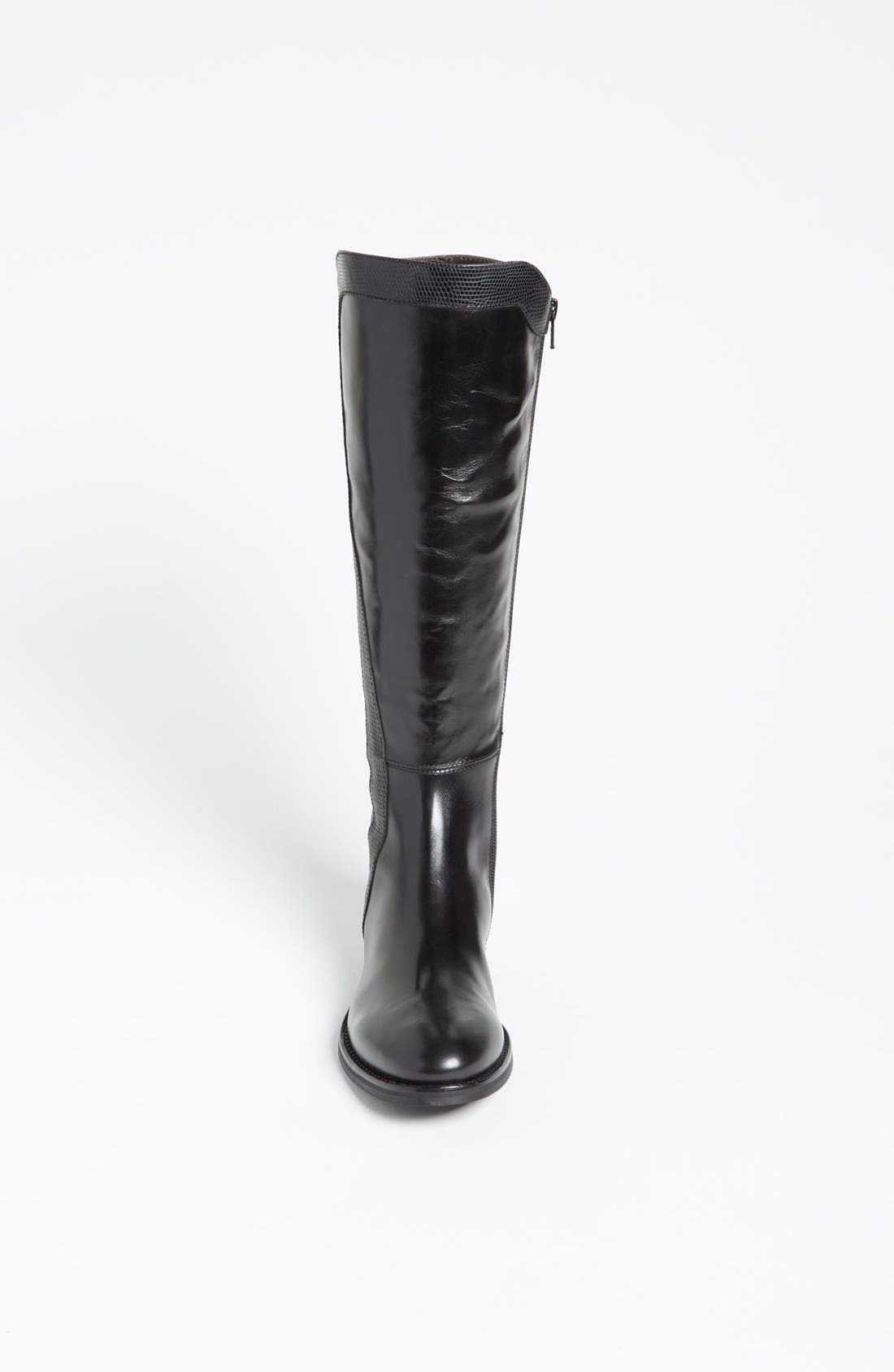 Attilio Giusti Leombruni Tall Boot,                             Alternate thumbnail 3, color,                             Black