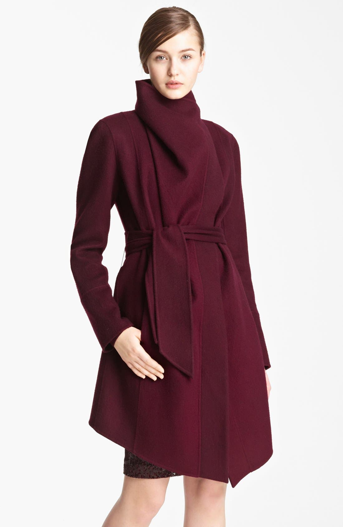 Main Image - Donna Karan Collection Belted Cashmere Coat
