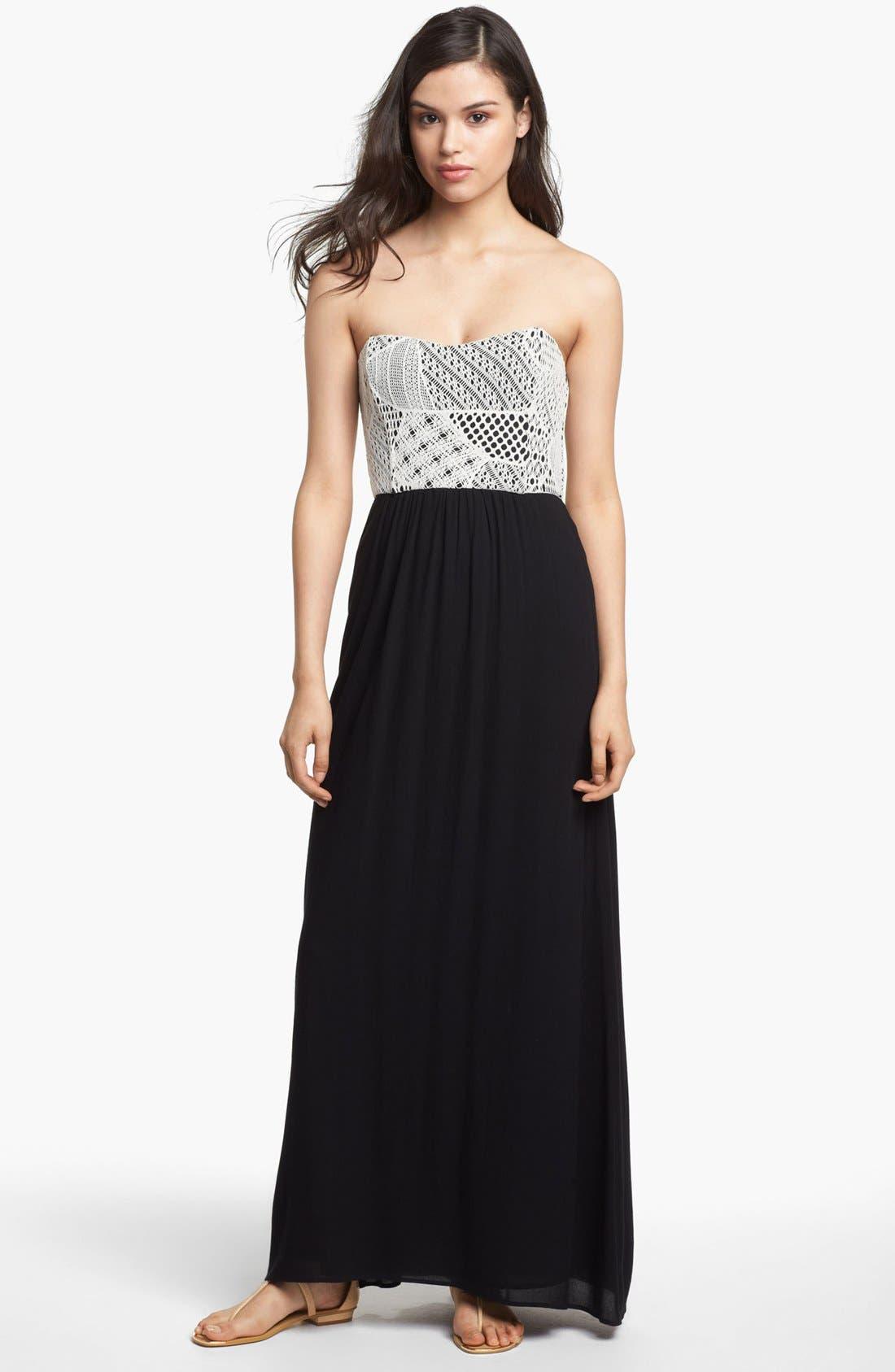 Alternate Image 1 Selected - Ella Moss Strapless Maxi Dress