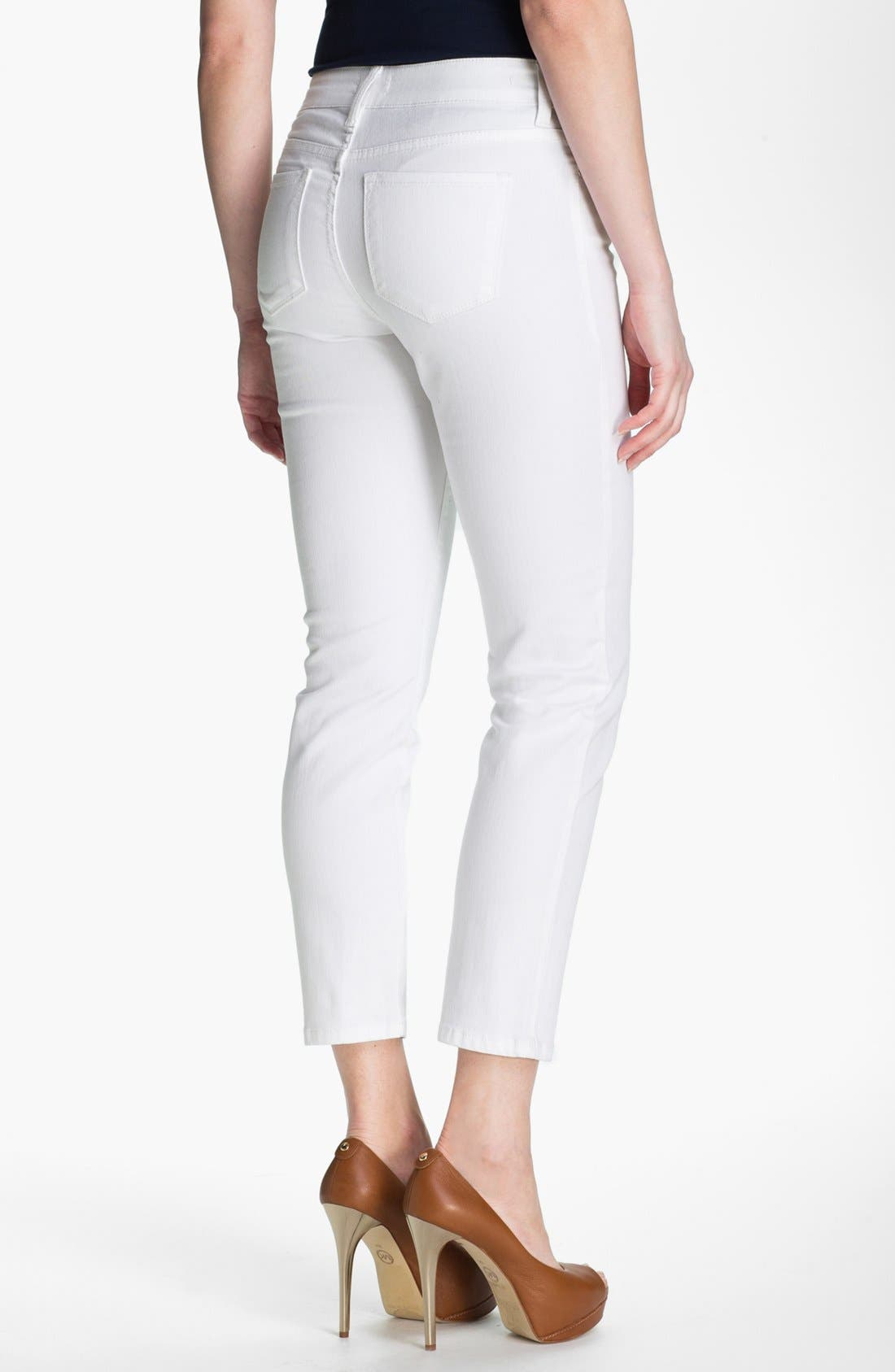 Alternate Image 2  - NYDJ 'Alisha' Skinny Stretch Ankle Jeans (Petite)