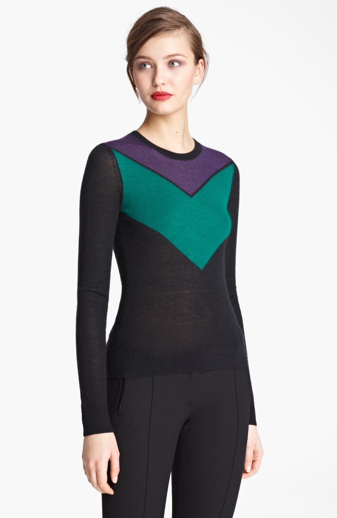 Alternate Image 1 Selected - Jason Wu Chevron Cashmere & Silk Sweater