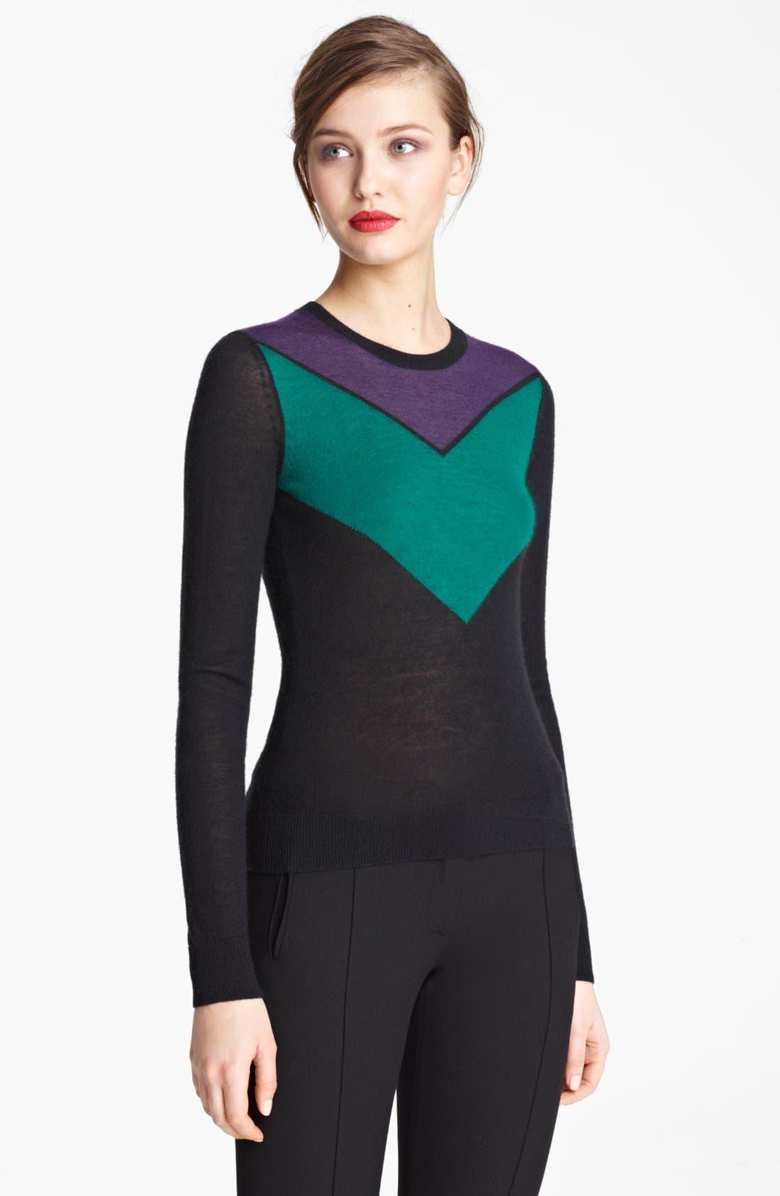 Main Image - Jason Wu Chevron Cashmere & Silk Sweater