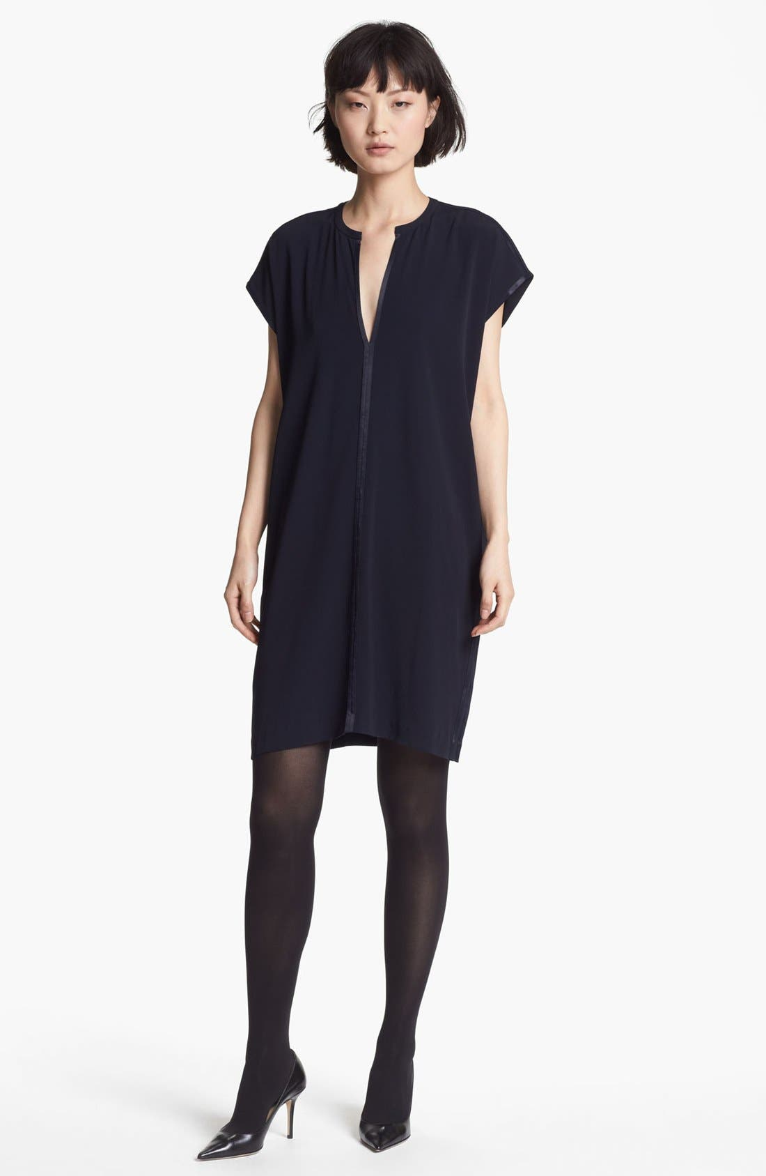 Main Image - Vince Split Neck Shift Dress